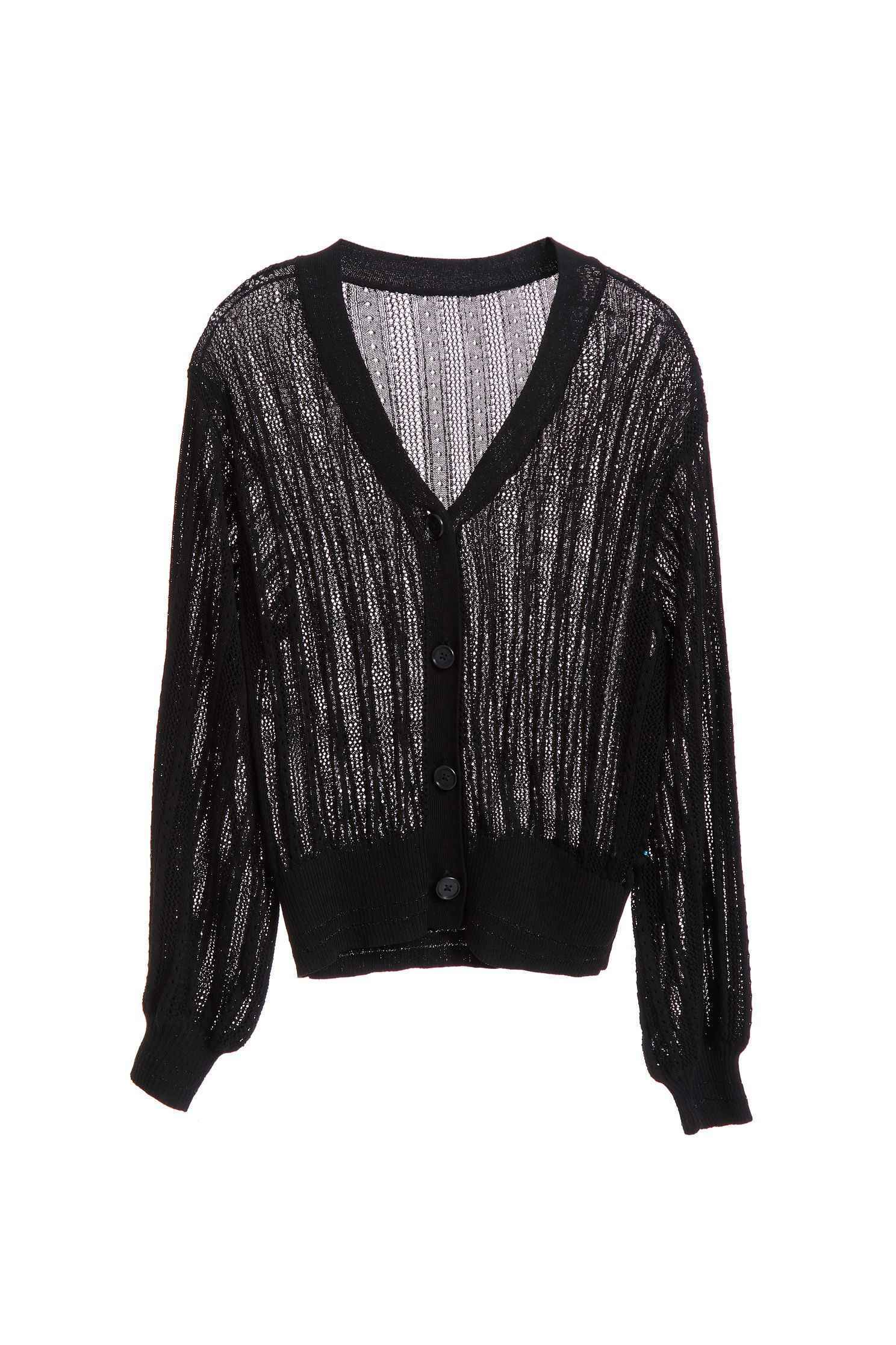 Knitting stripe coat