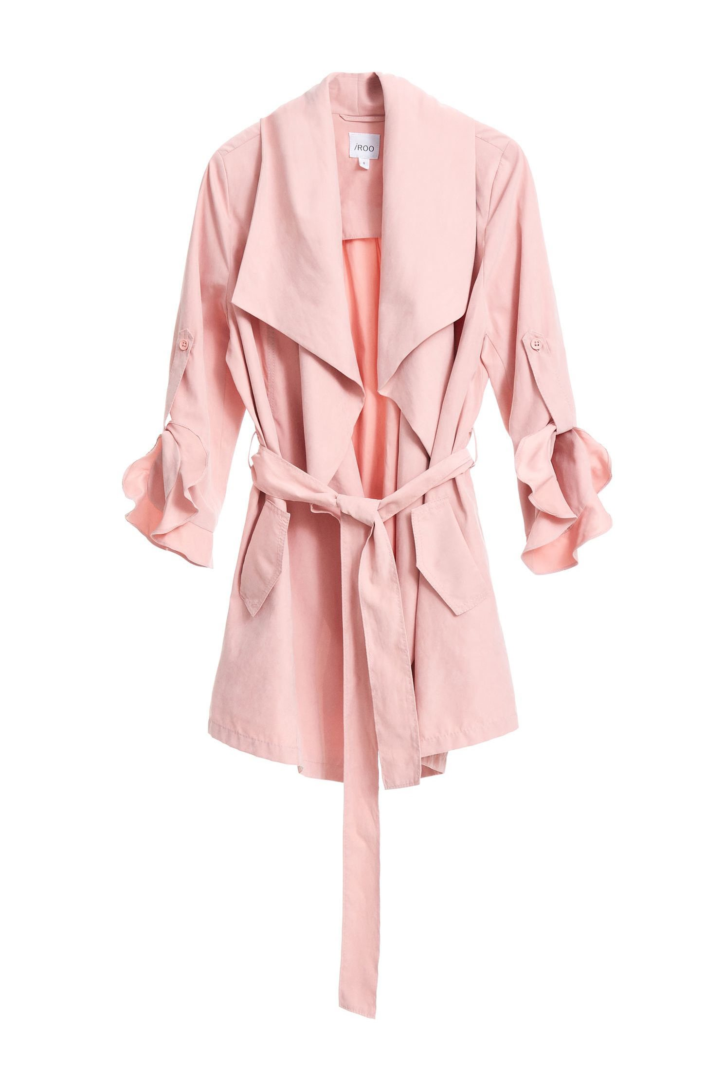 Irregular cut collar coat