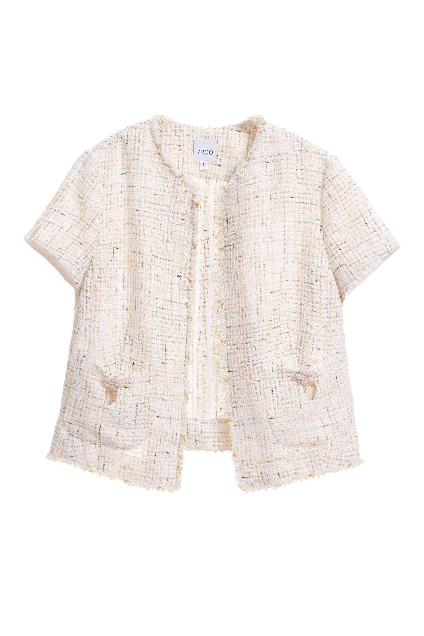 Pearl Flower Pocket Coat