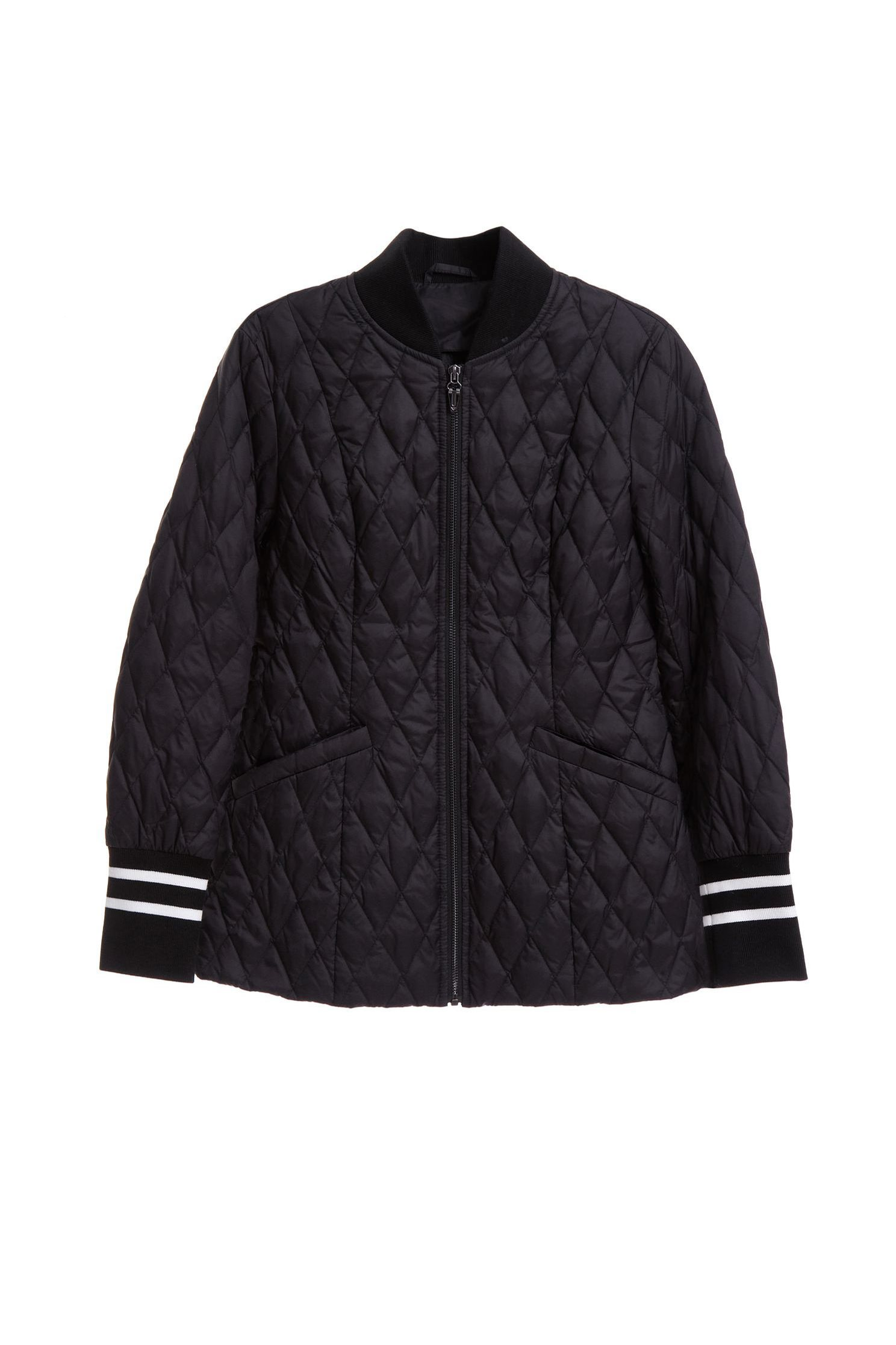 Mixing ribs lozenge down jacket