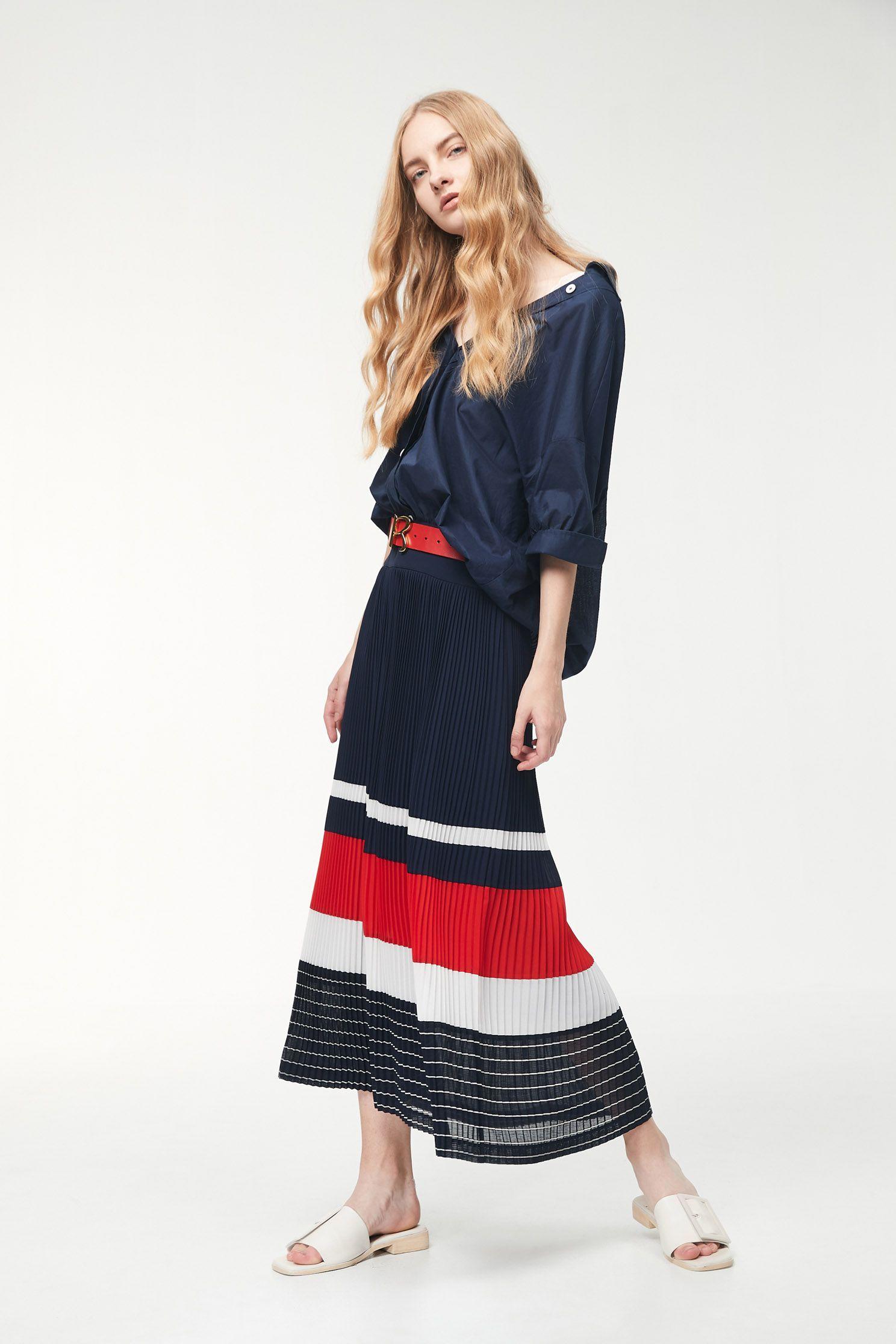 Chiffon stitching design dress