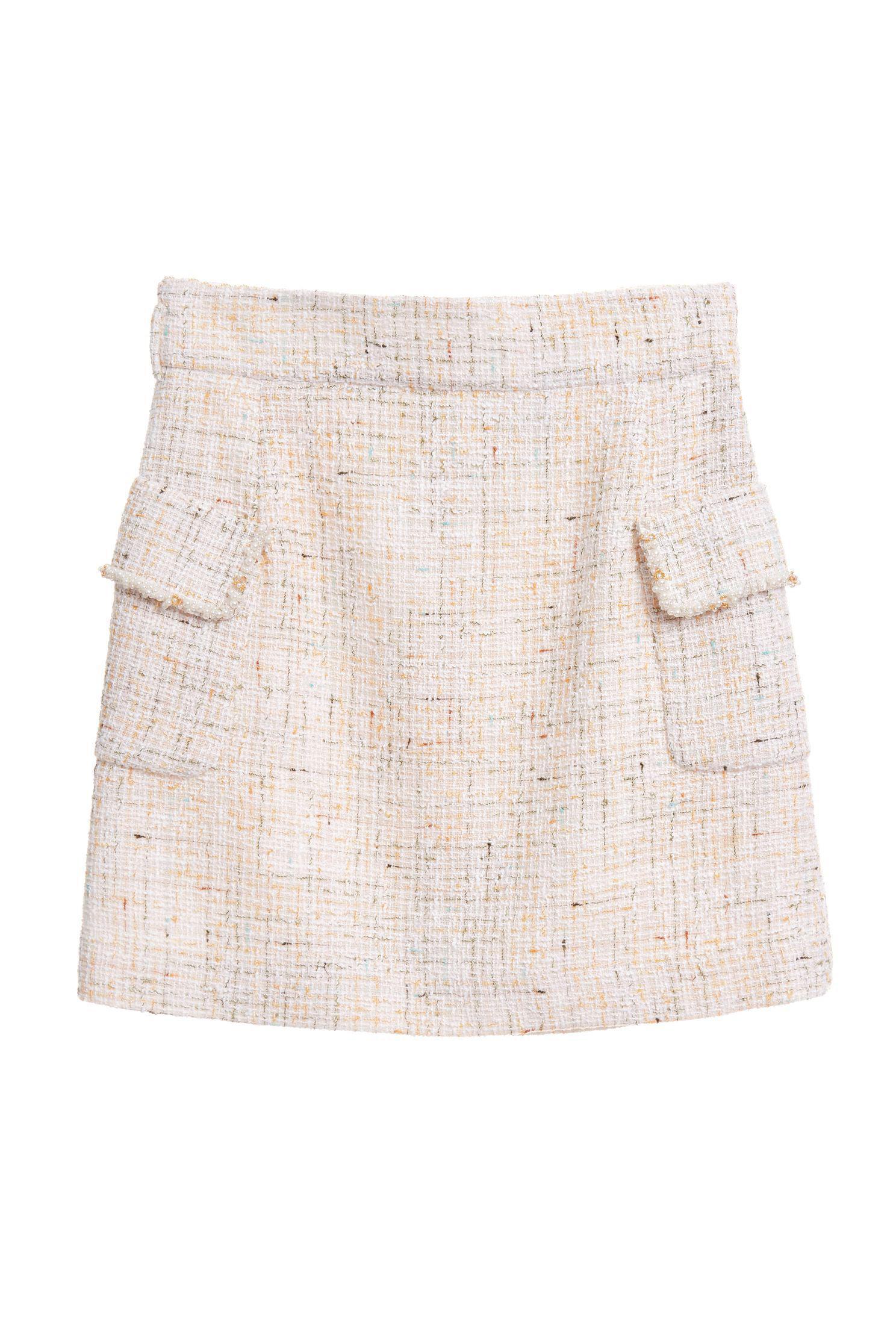 Pearl Flower Pocket Skirt