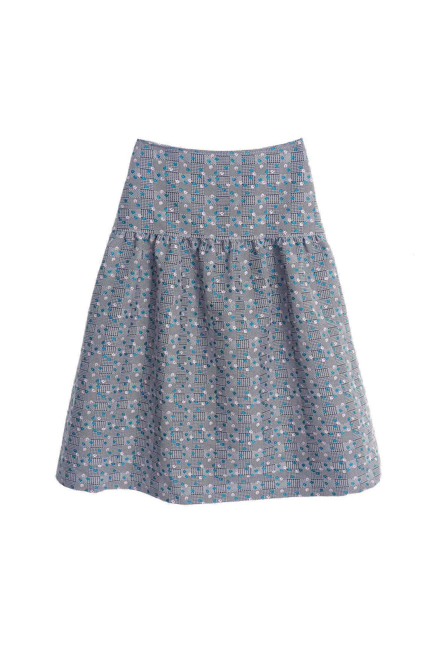 Jacquard half-long skirt