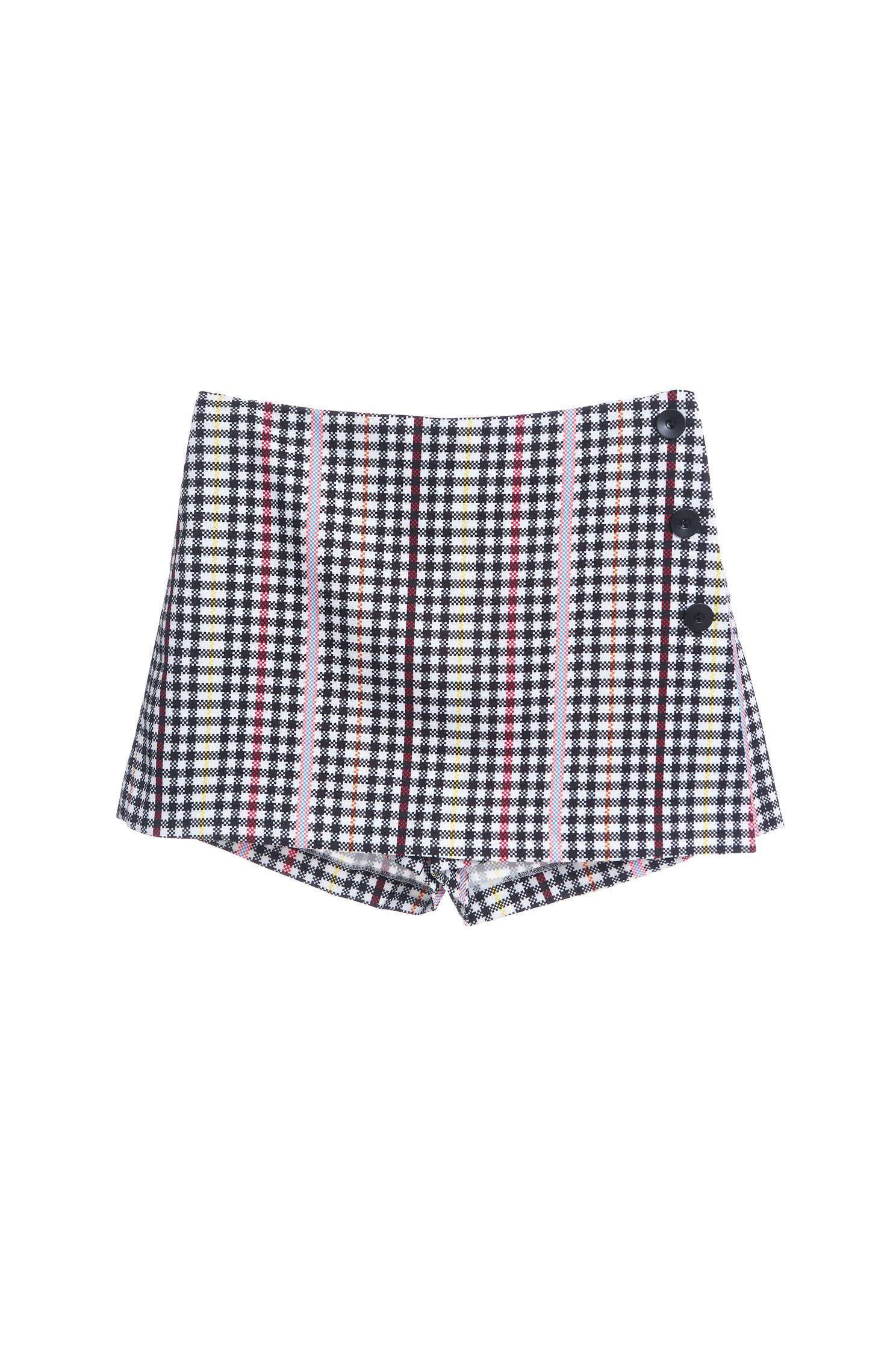 Colorful buckled classic design shorts