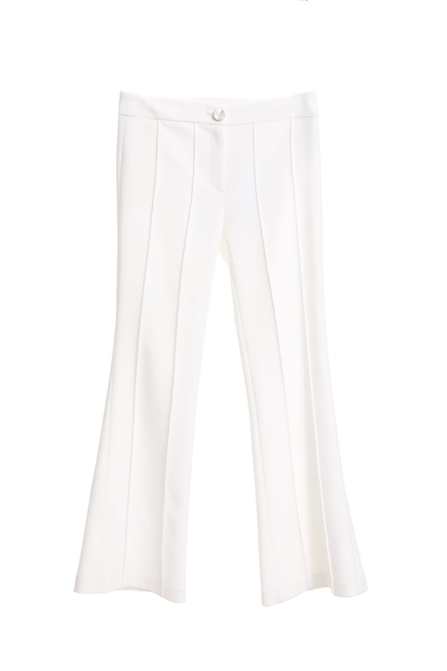 Clean cut slim bell bottoms