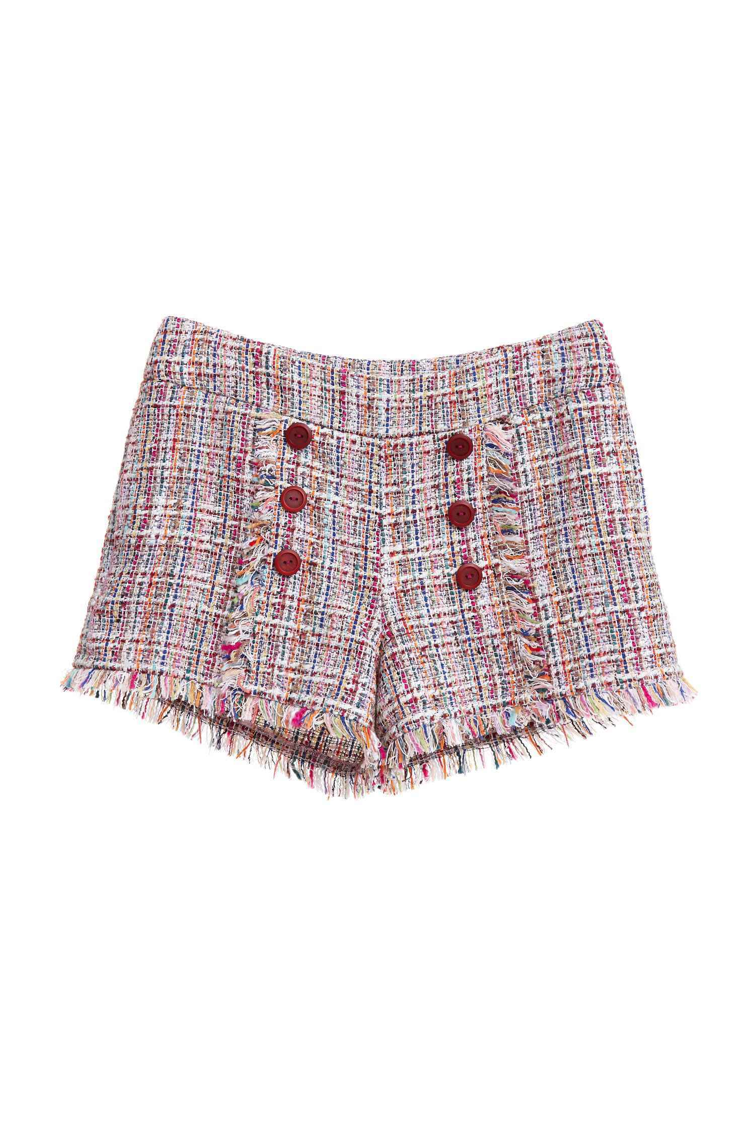 Heather wool shorts