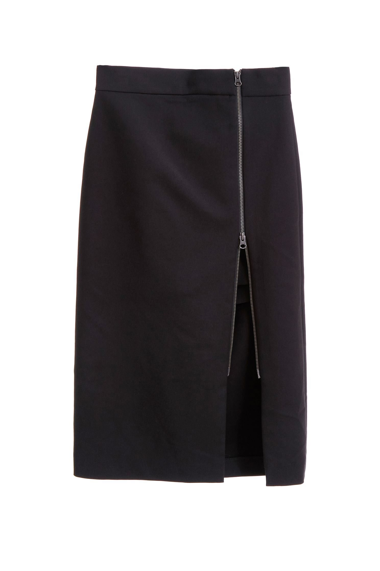Double zipper split skirt pants