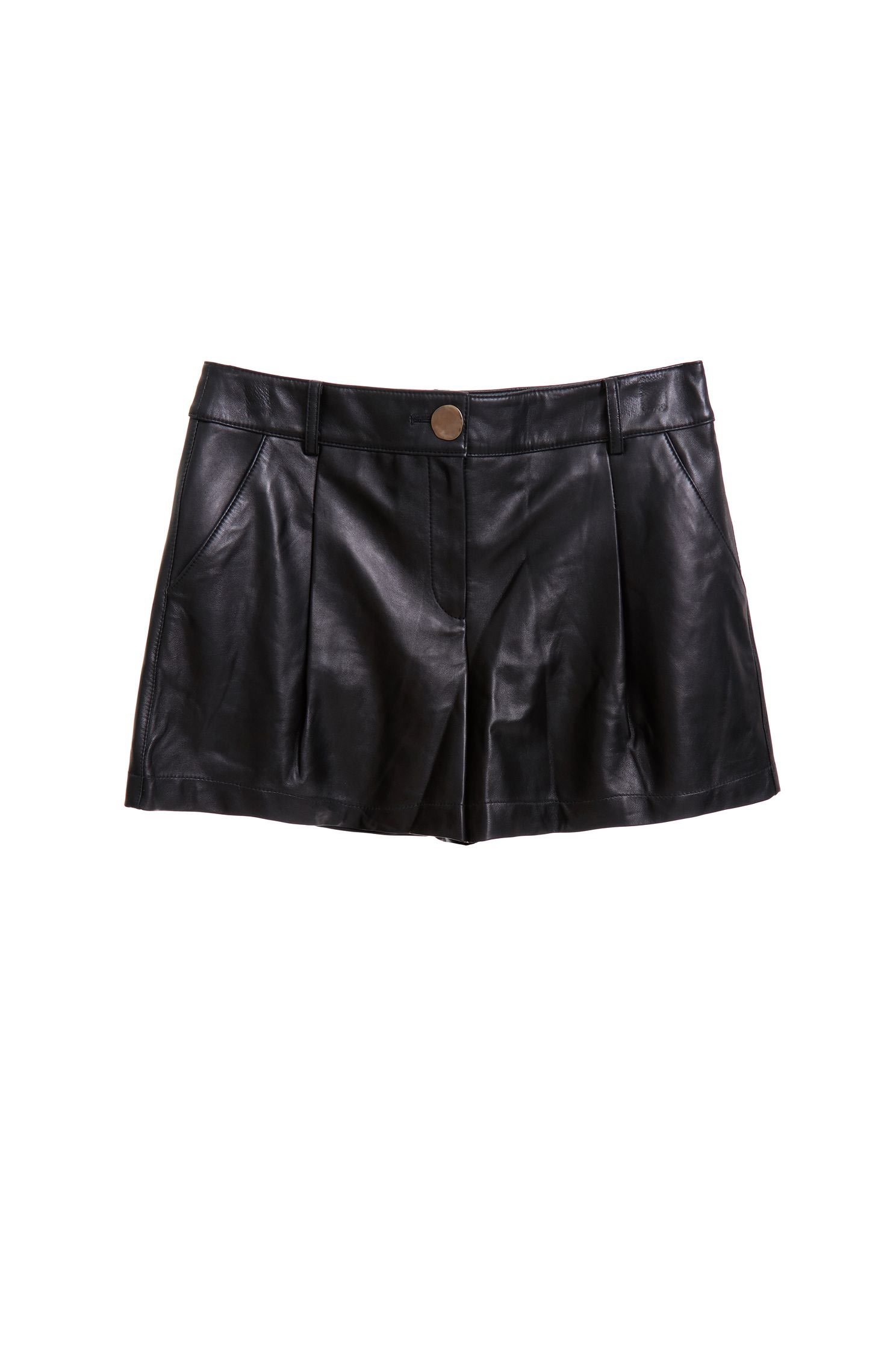 Simple leather shorts
