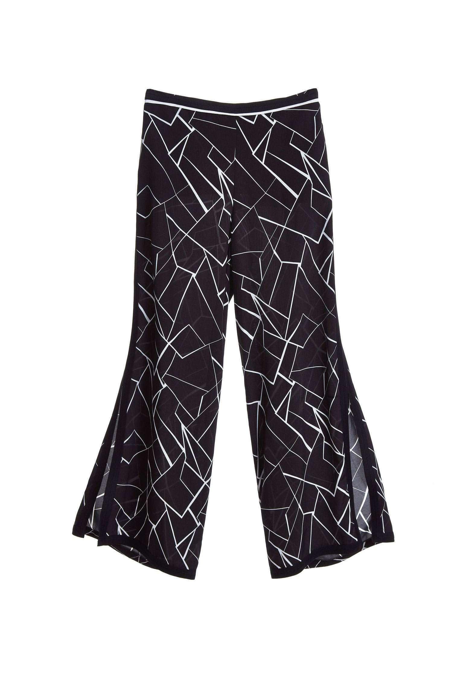 Elegant split long pants