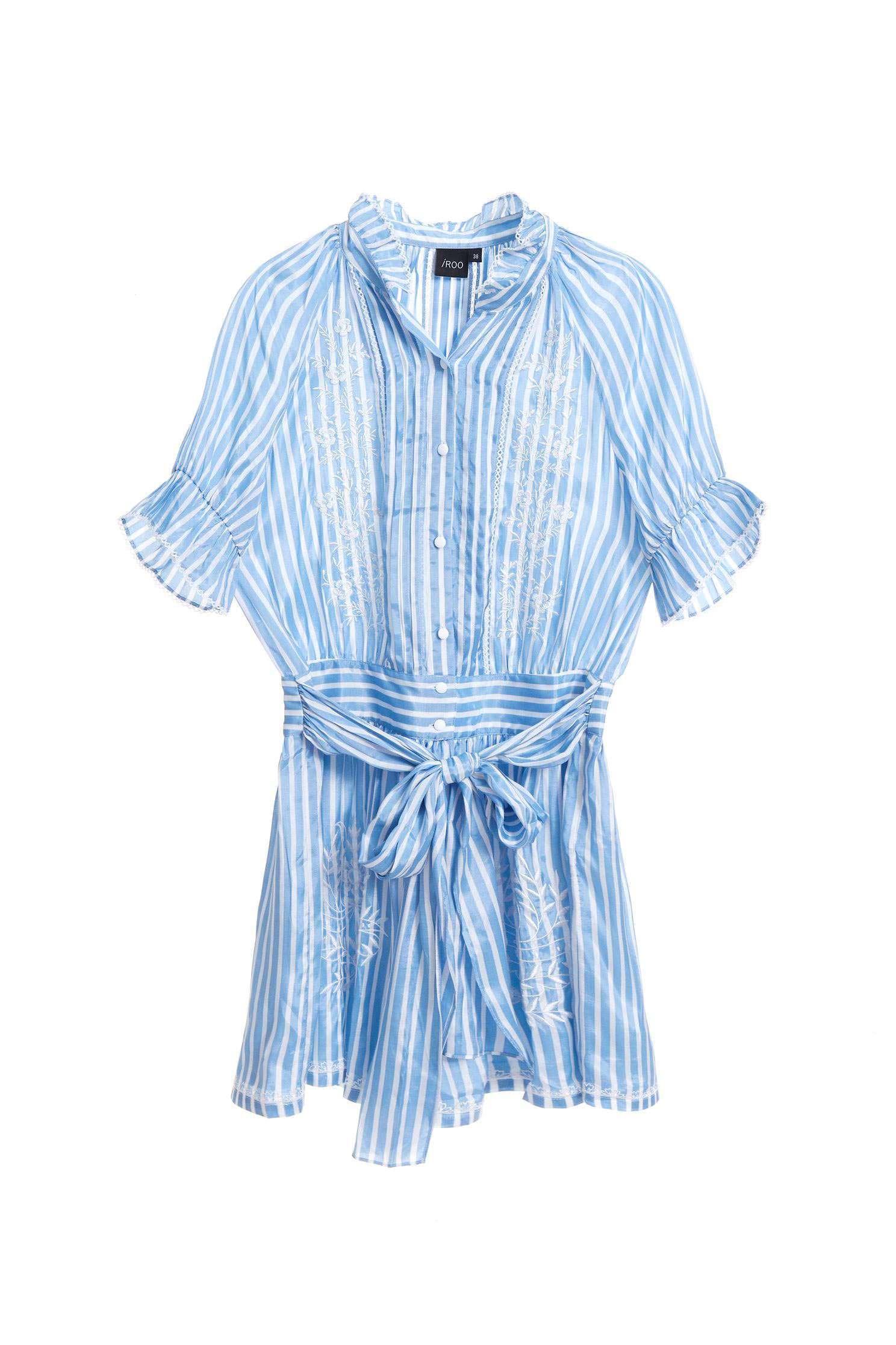 Embossed striped  dress