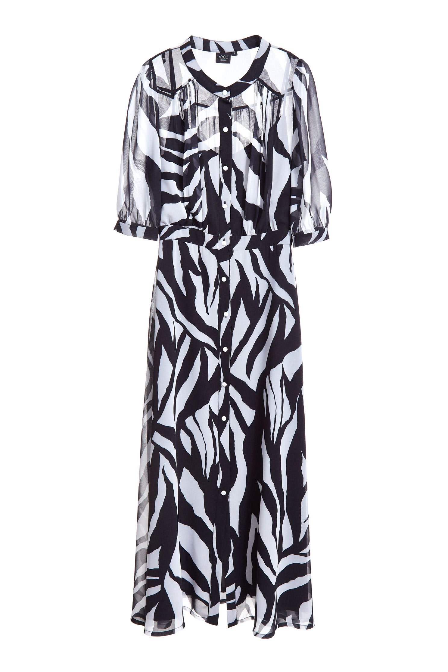 Zebra stripe classic fashion dress