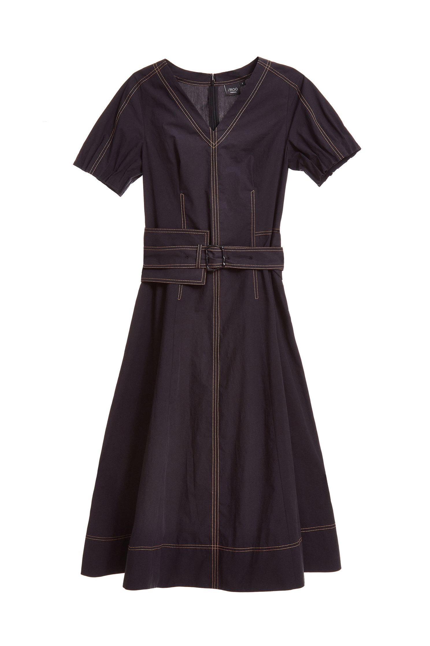 V-neck strap classic dress