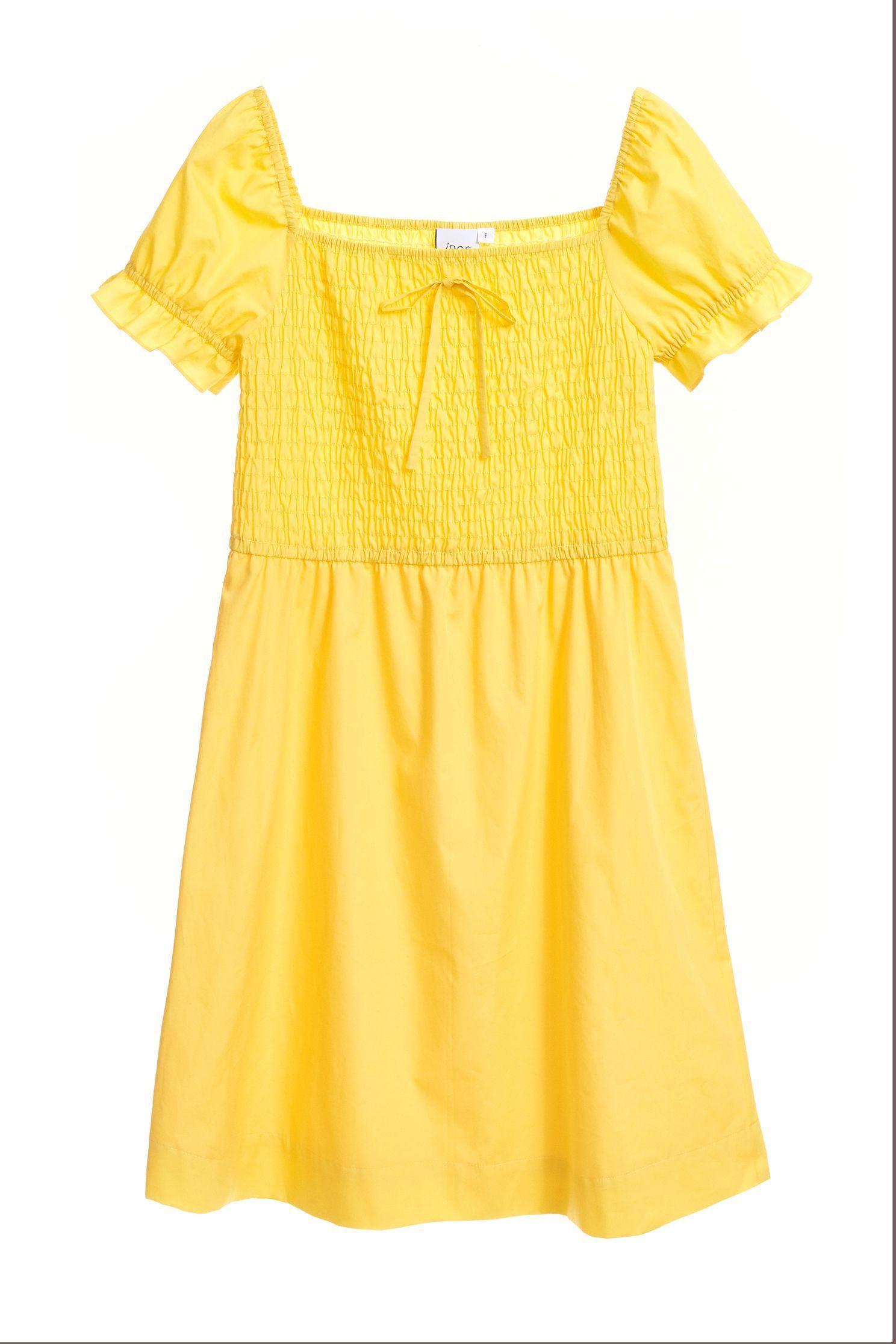 GATHERED elastic bright dress