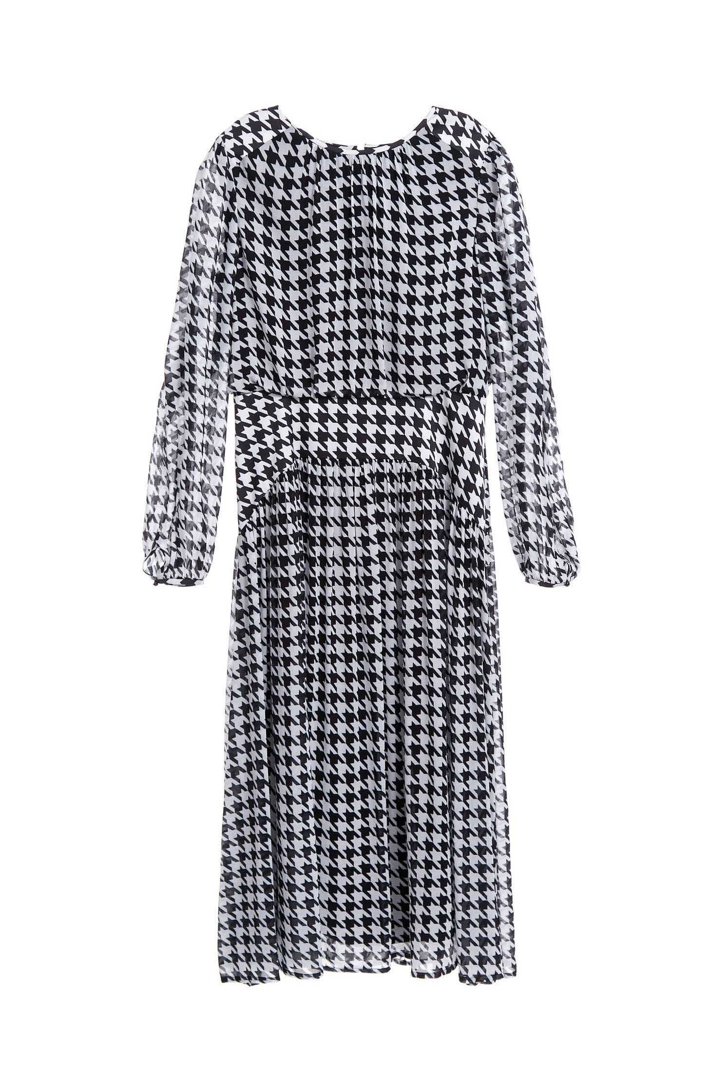 Houndstooth mixing dress