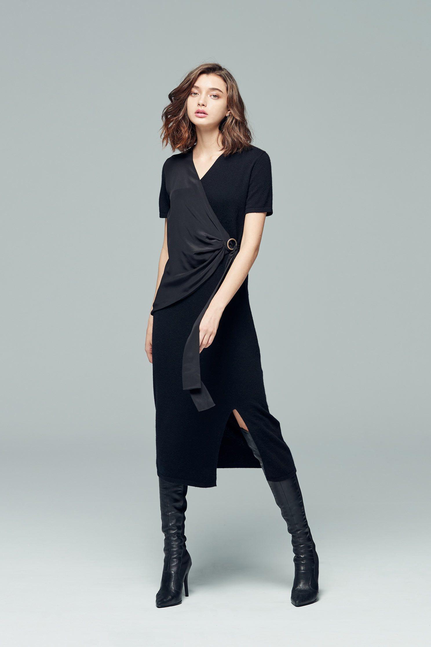 Elegant plain color dress