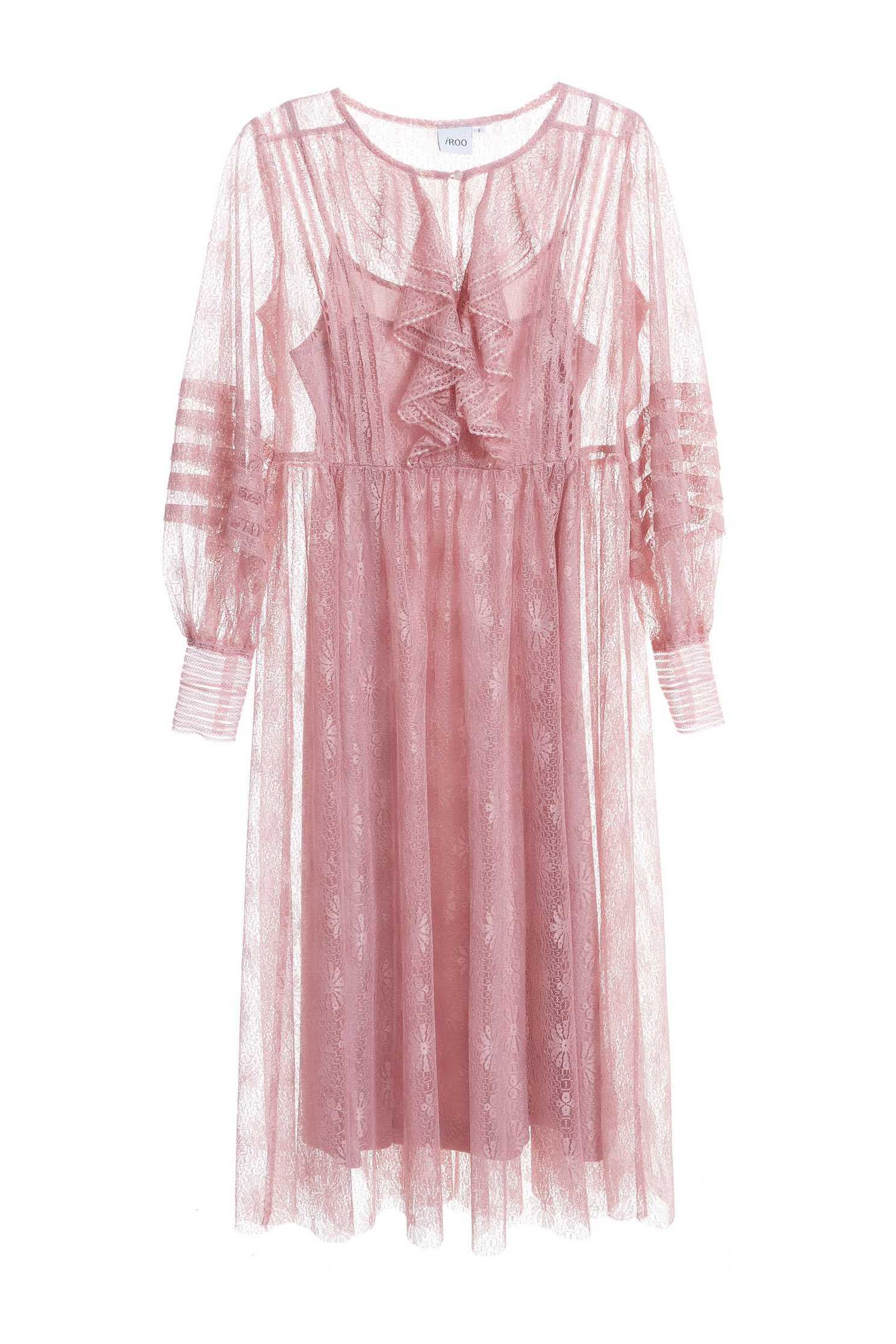 Dry rose lace dress