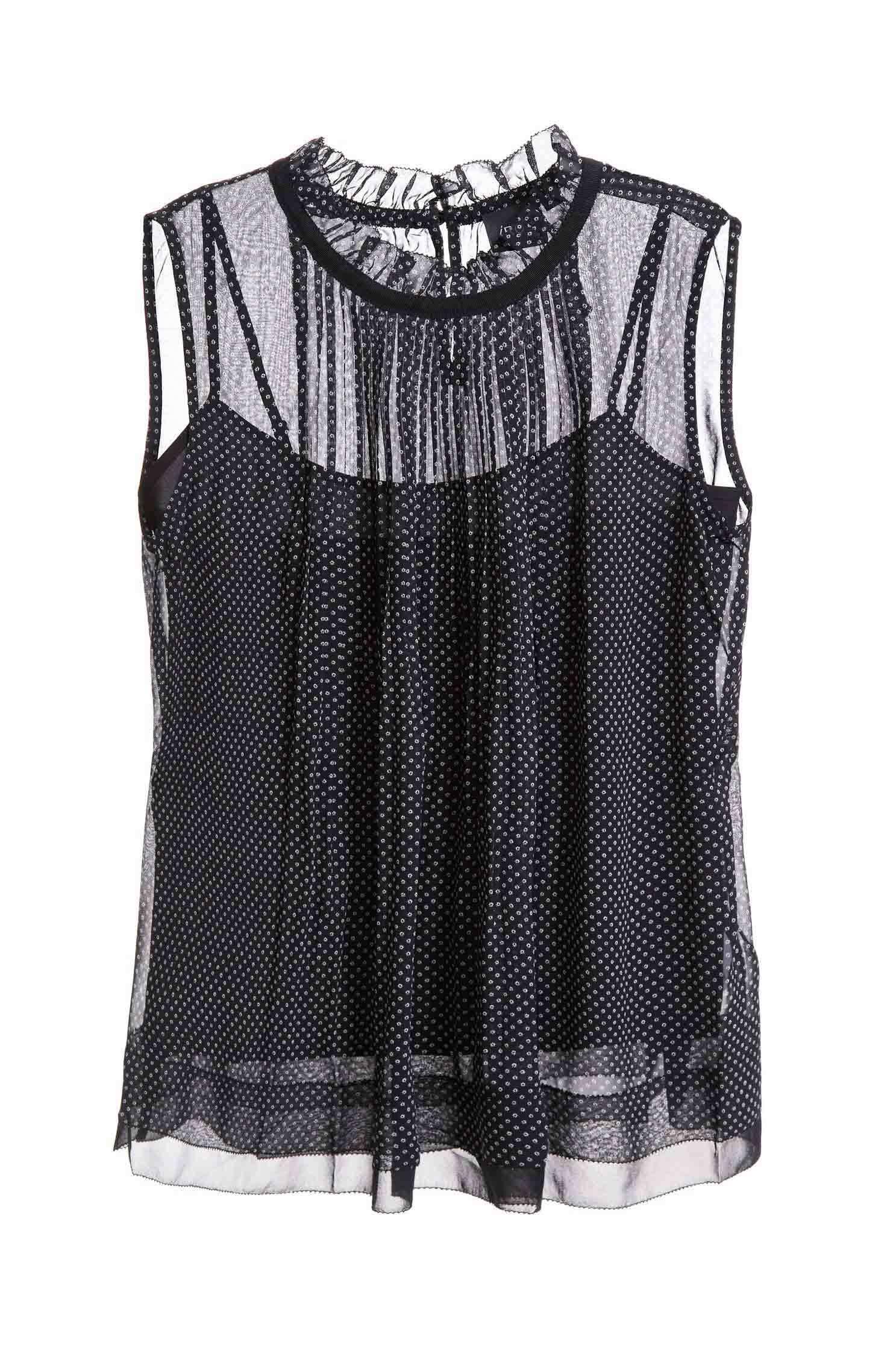 Elegant and slightly transparent chiffon vest