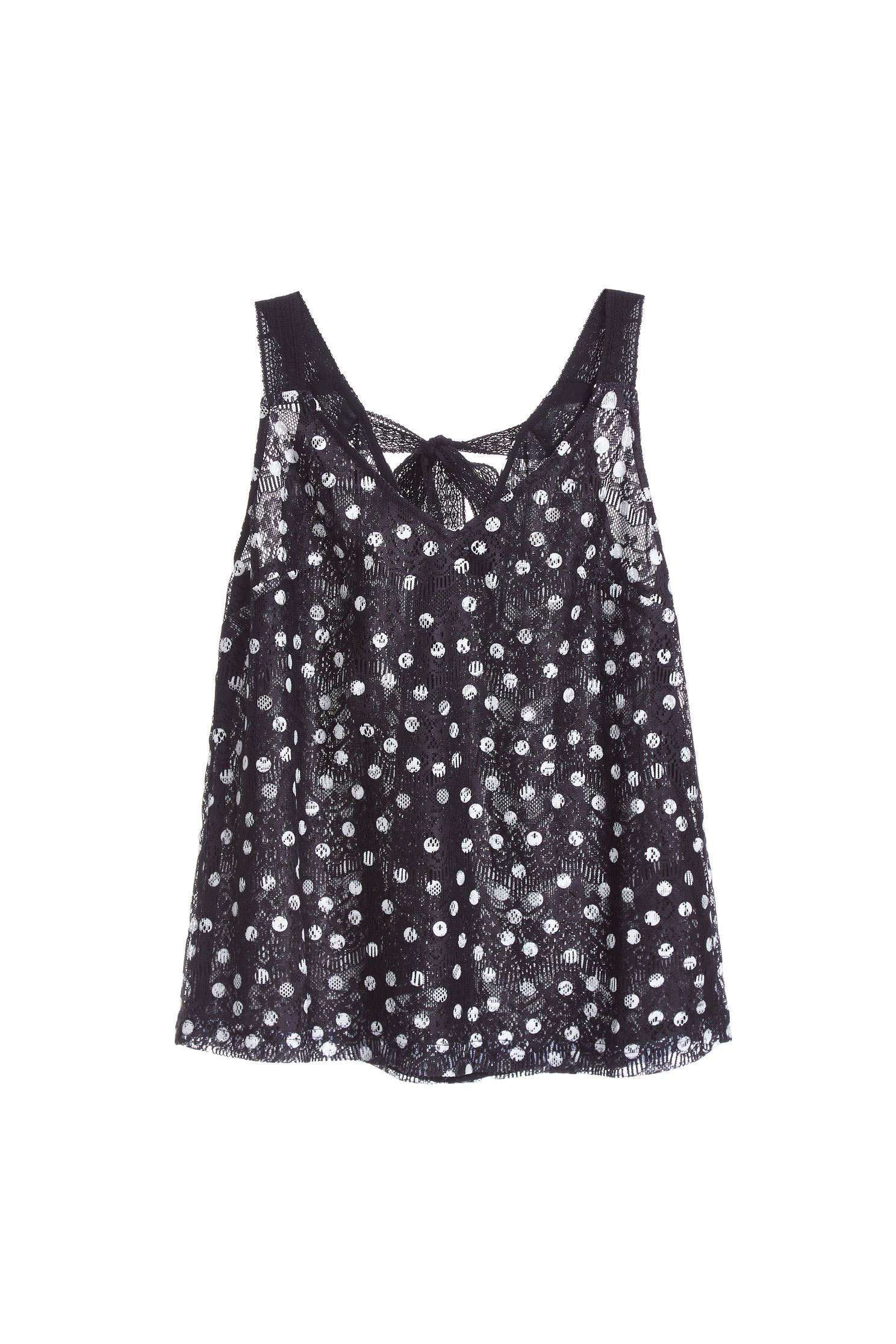 Full polka dots fashion vest