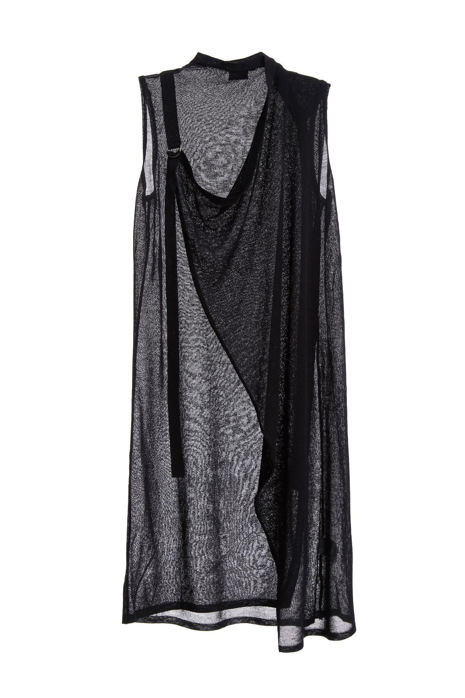 V-neck long vest