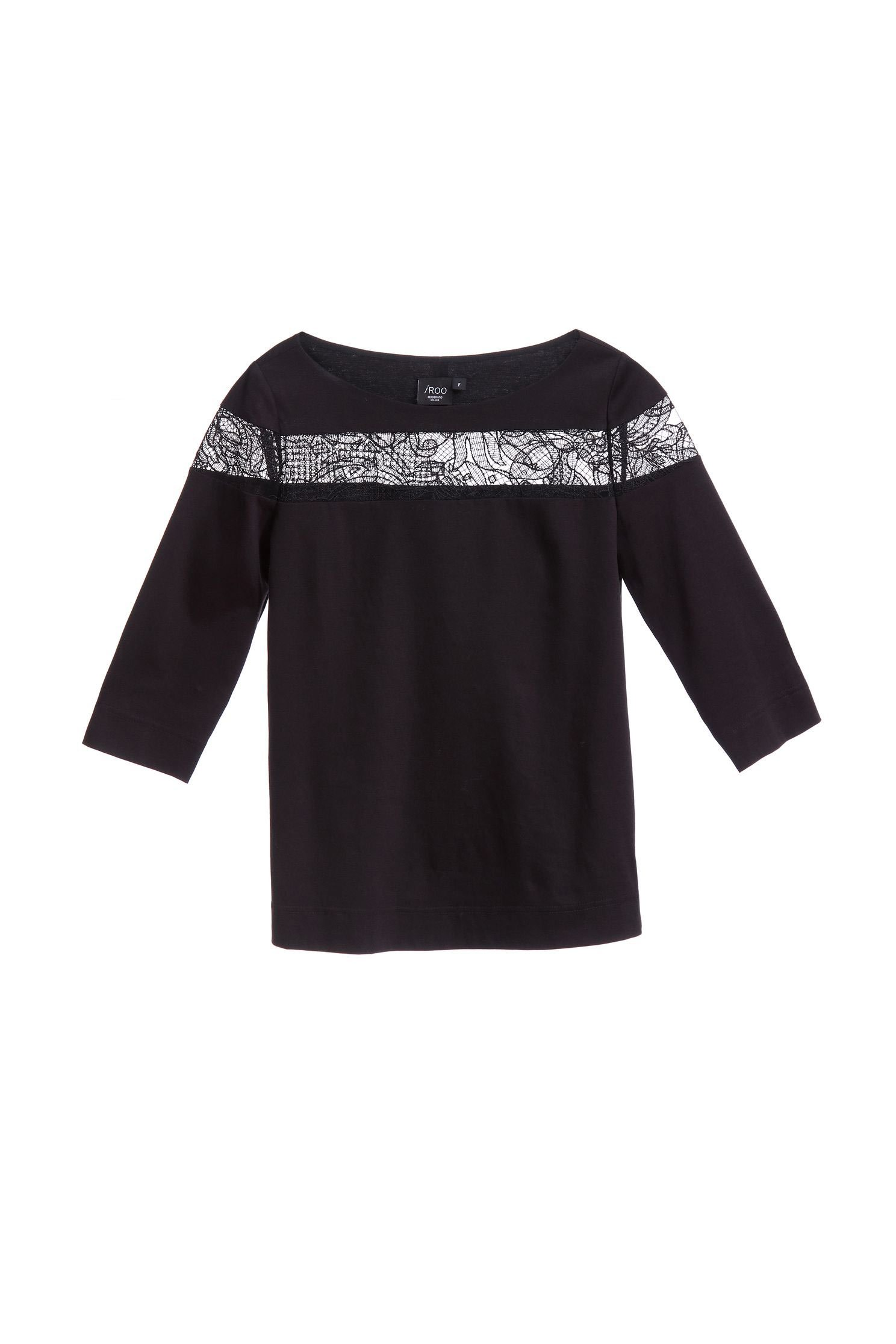 Lace stitching classic design long-sleeved top