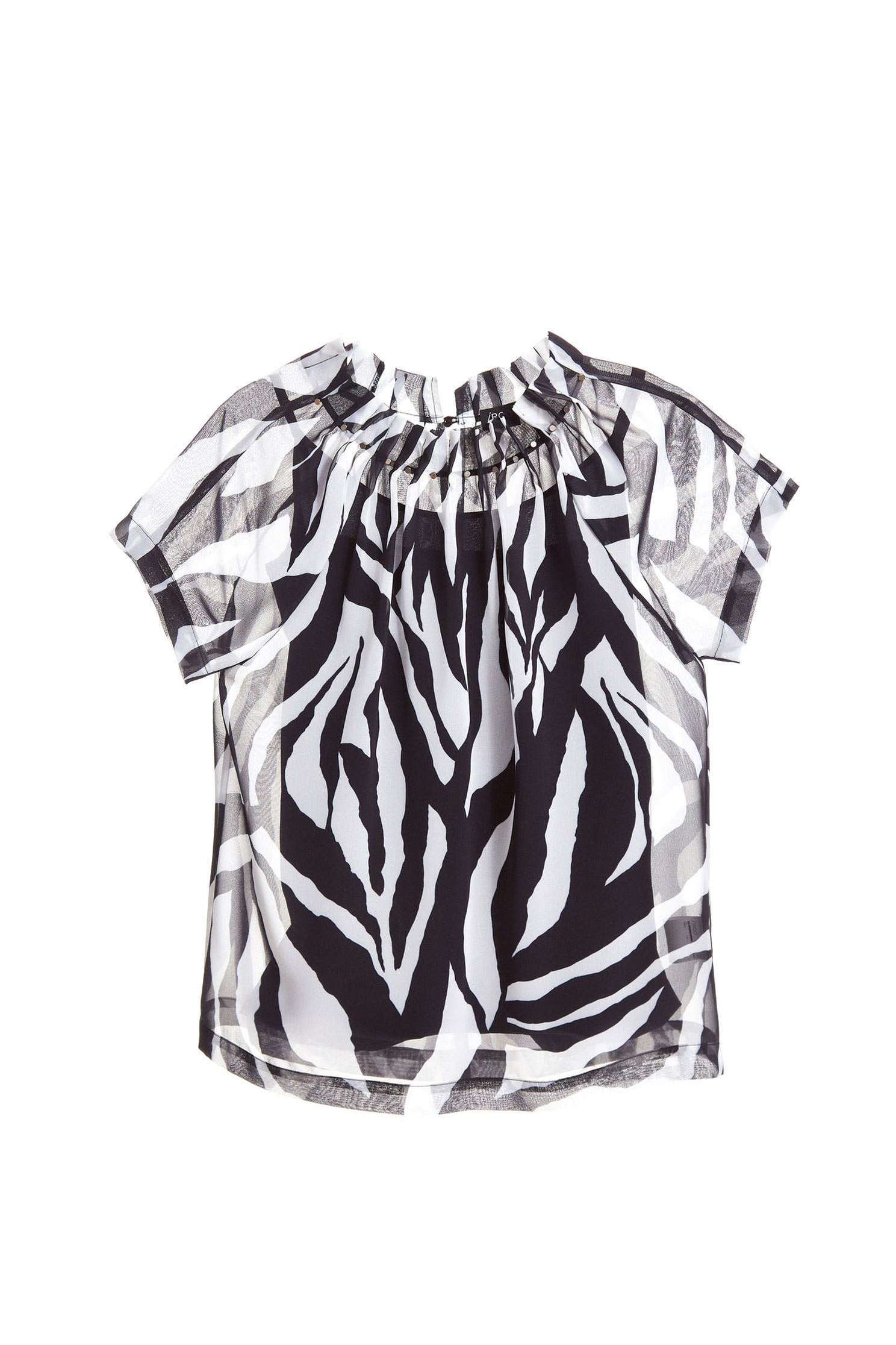 Zebra stripe classic fashion top