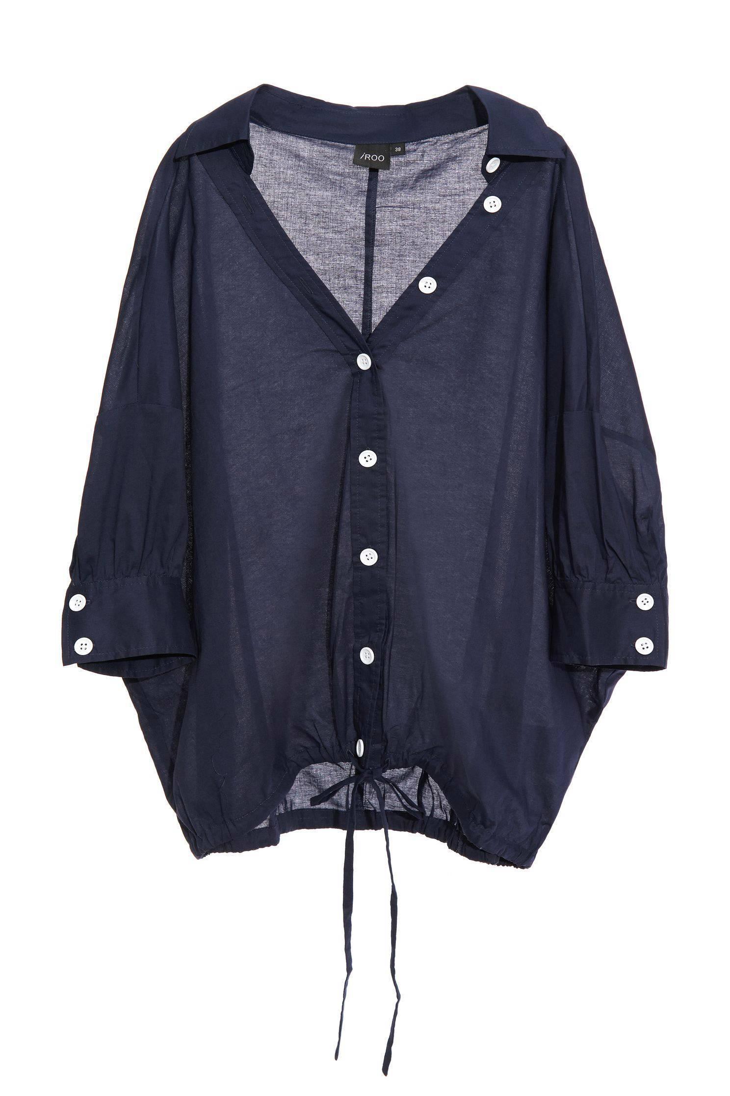 Straightforward short front long shirt top