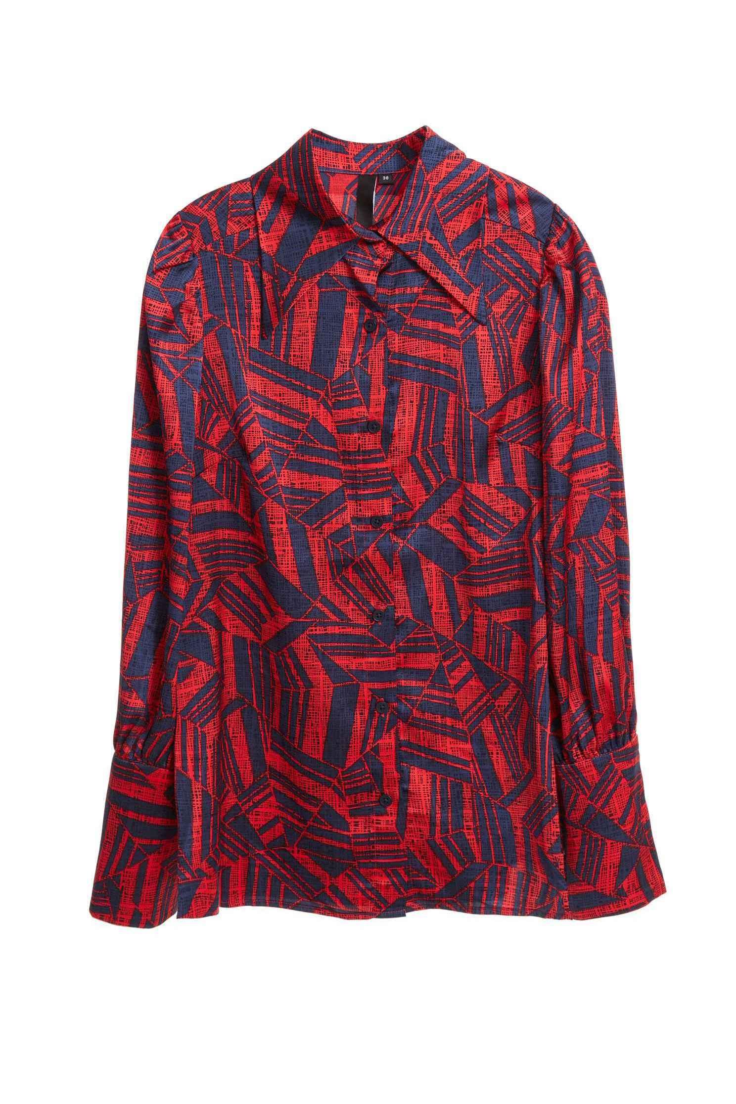 Geometrical satin shirt