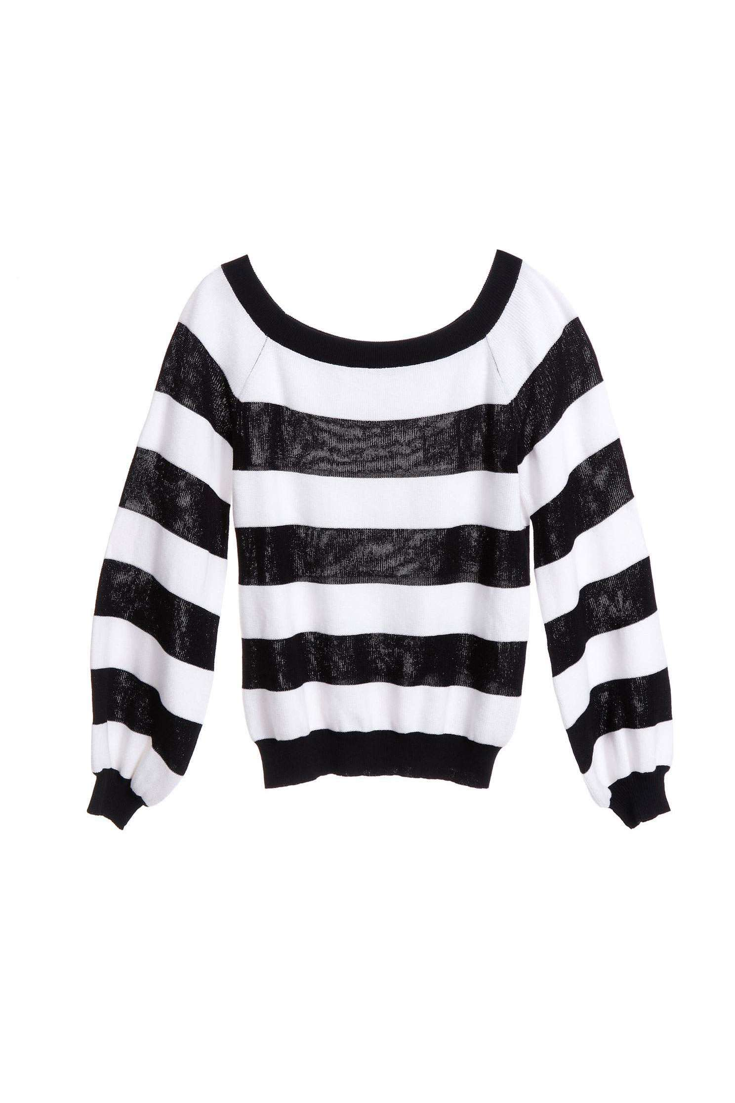 B&W stripes knitting top