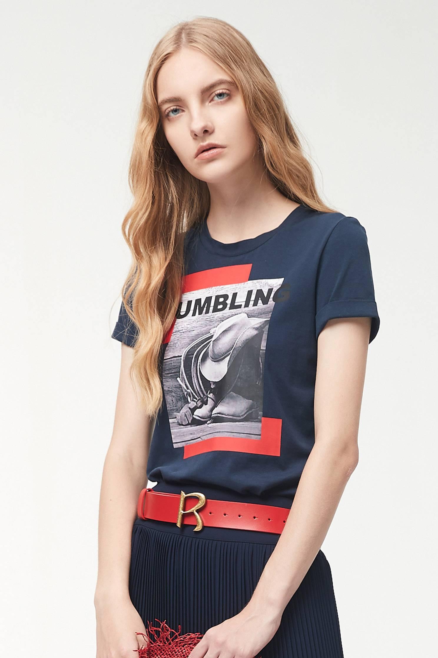 Comfortable cotton print T-shirt