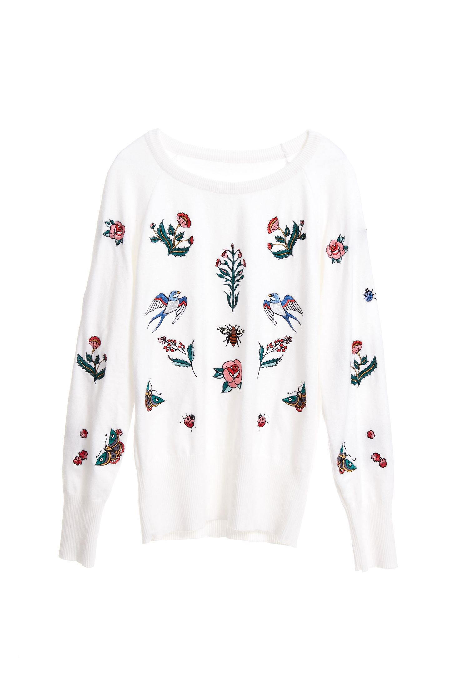 Western flowy sweater