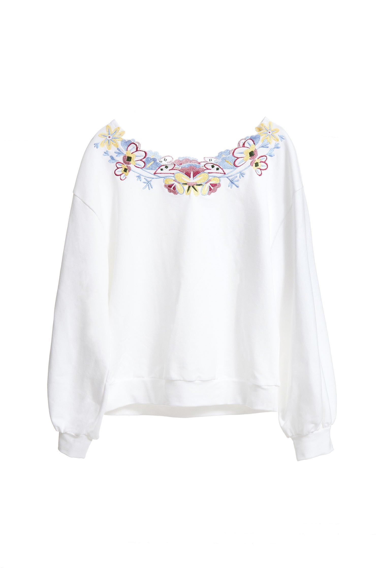 Temperament flower collar top
