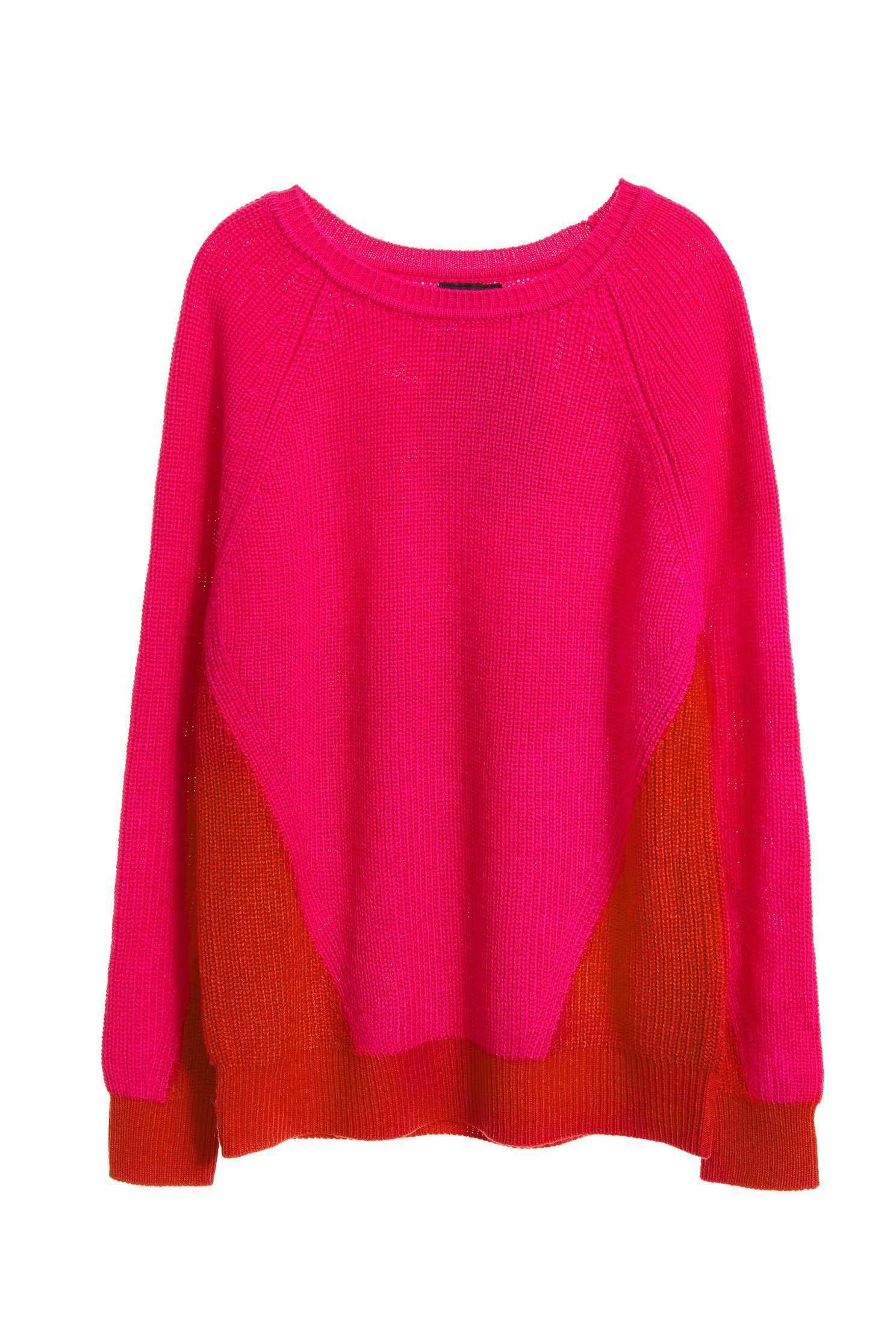 Color loose knitwear