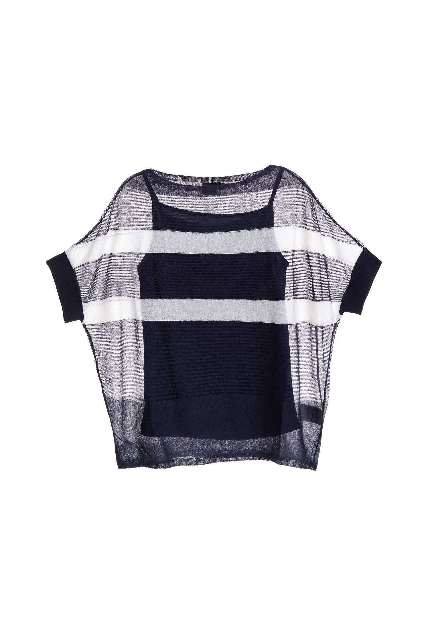 Loose striped knit top