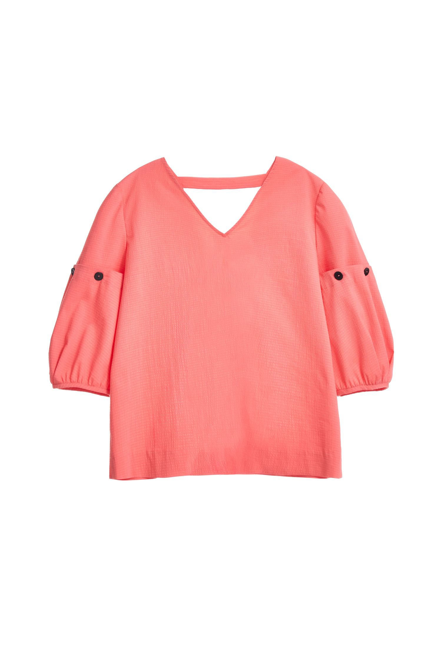 Five-point sleeve top with detachable sleeve
