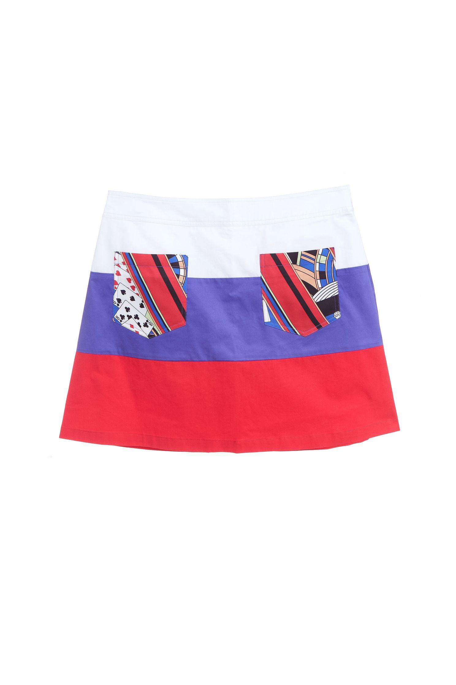 Color matching fashion design skirt