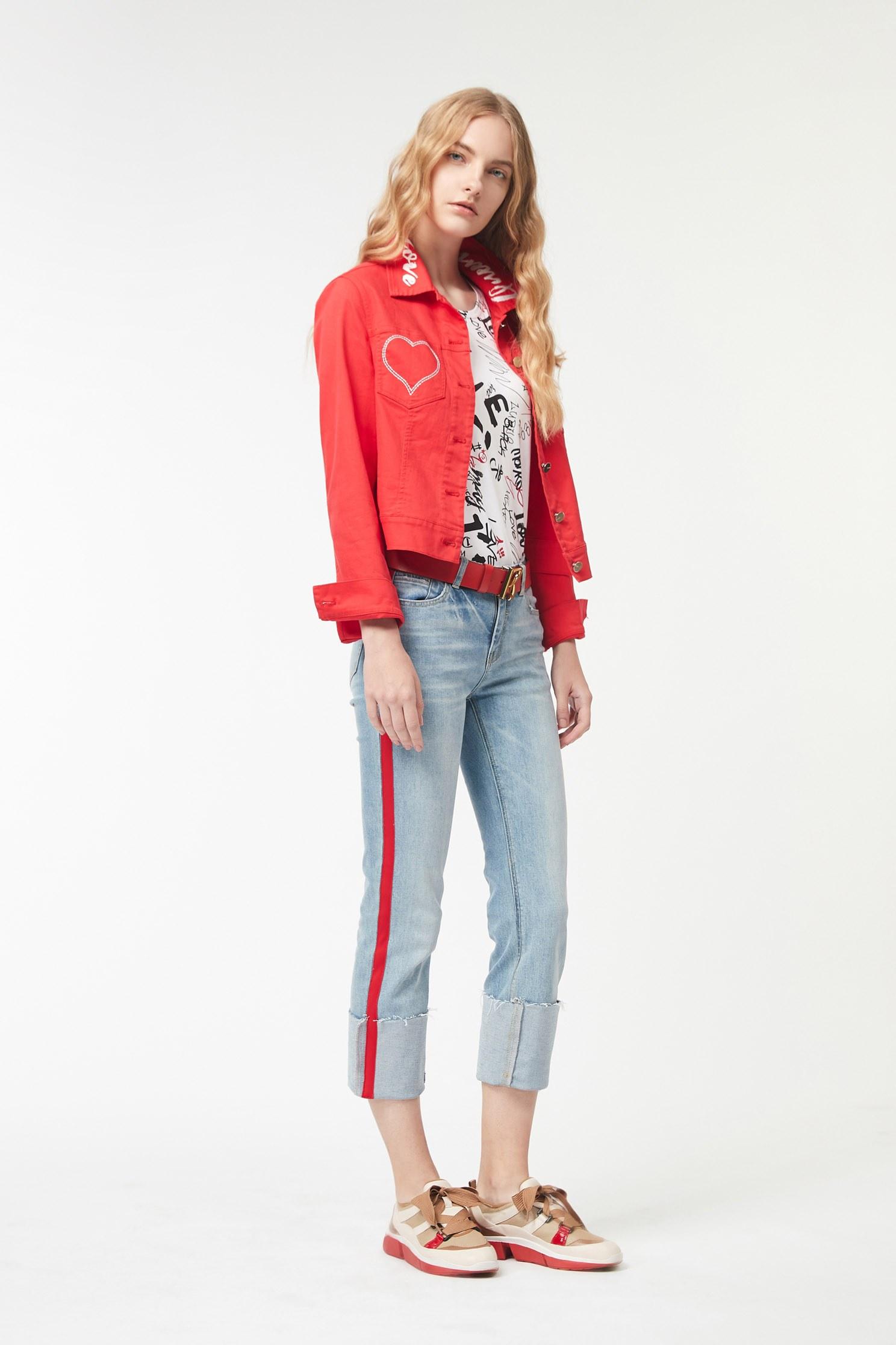 Woven anti-pleated denim trousers