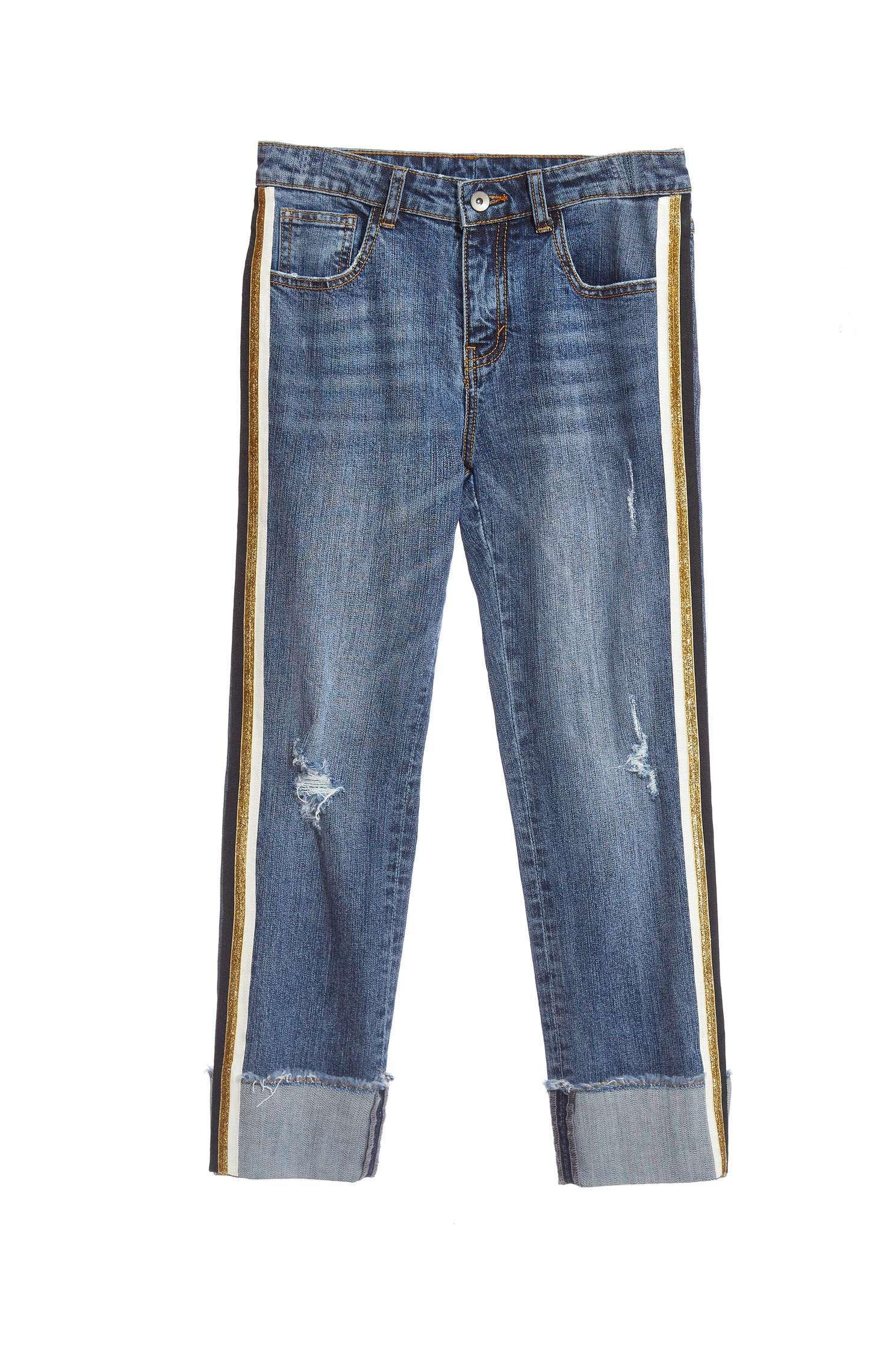 broken denim jeans