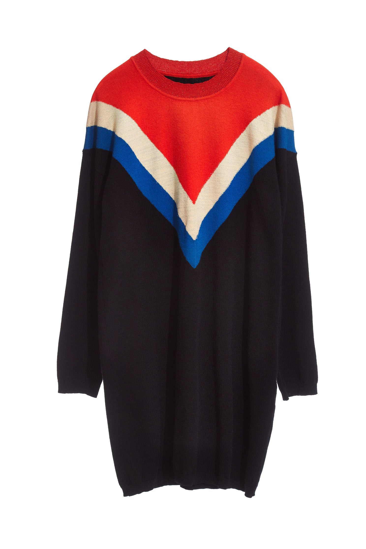 Casual Contrast Color long sleeve tops