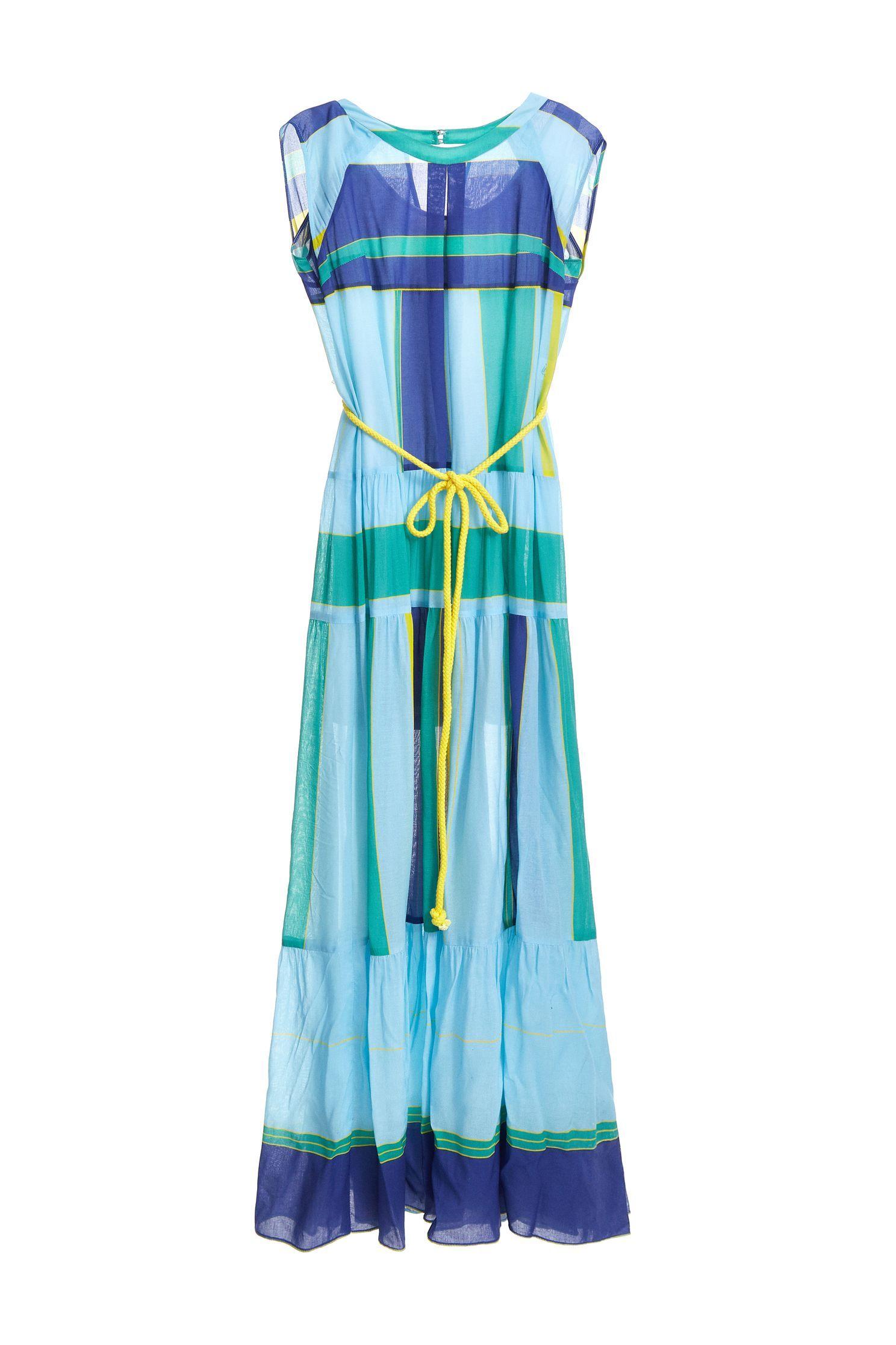 Color matching design dress