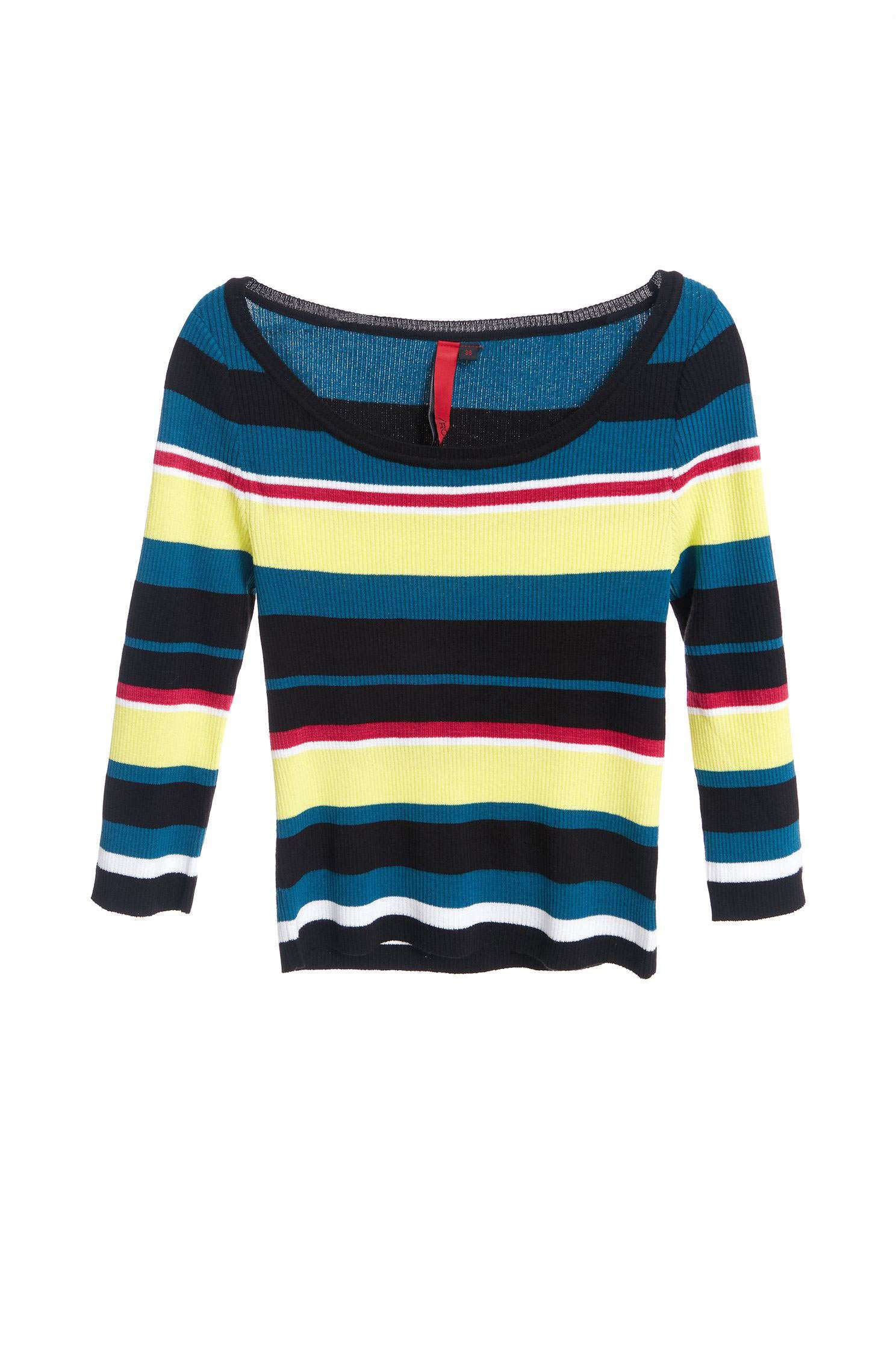 Stripped knitting top