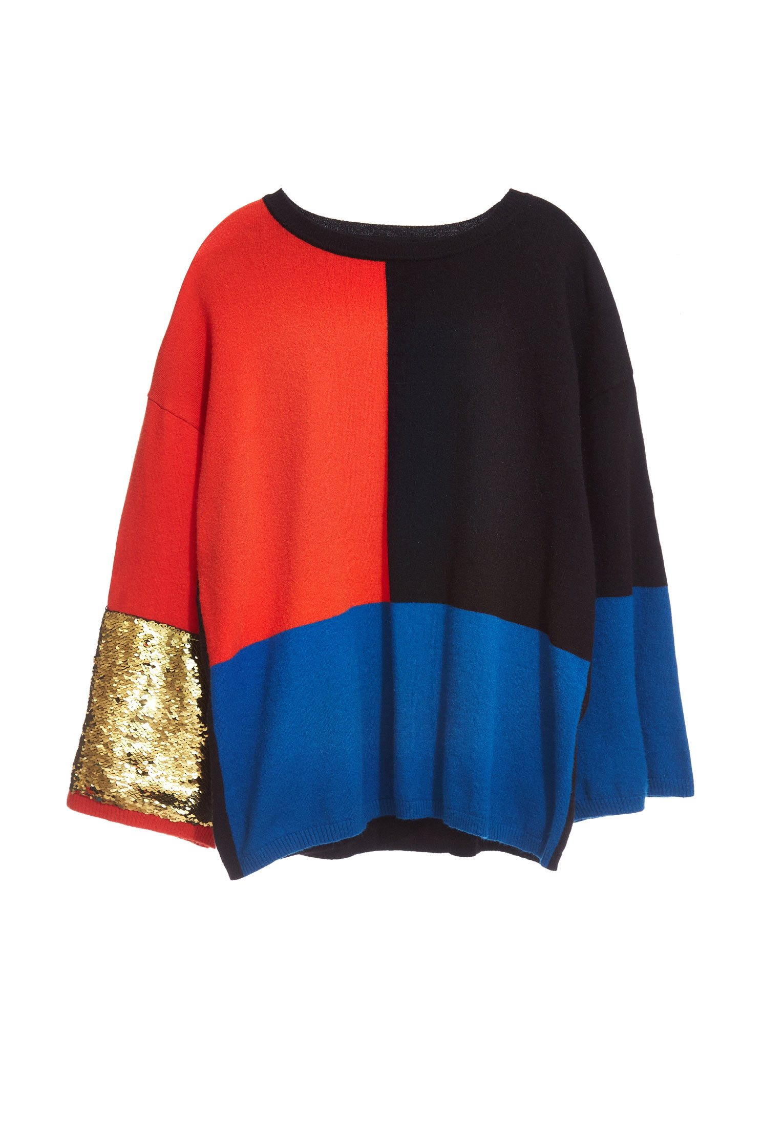Contrast Color Long Sleeve Top