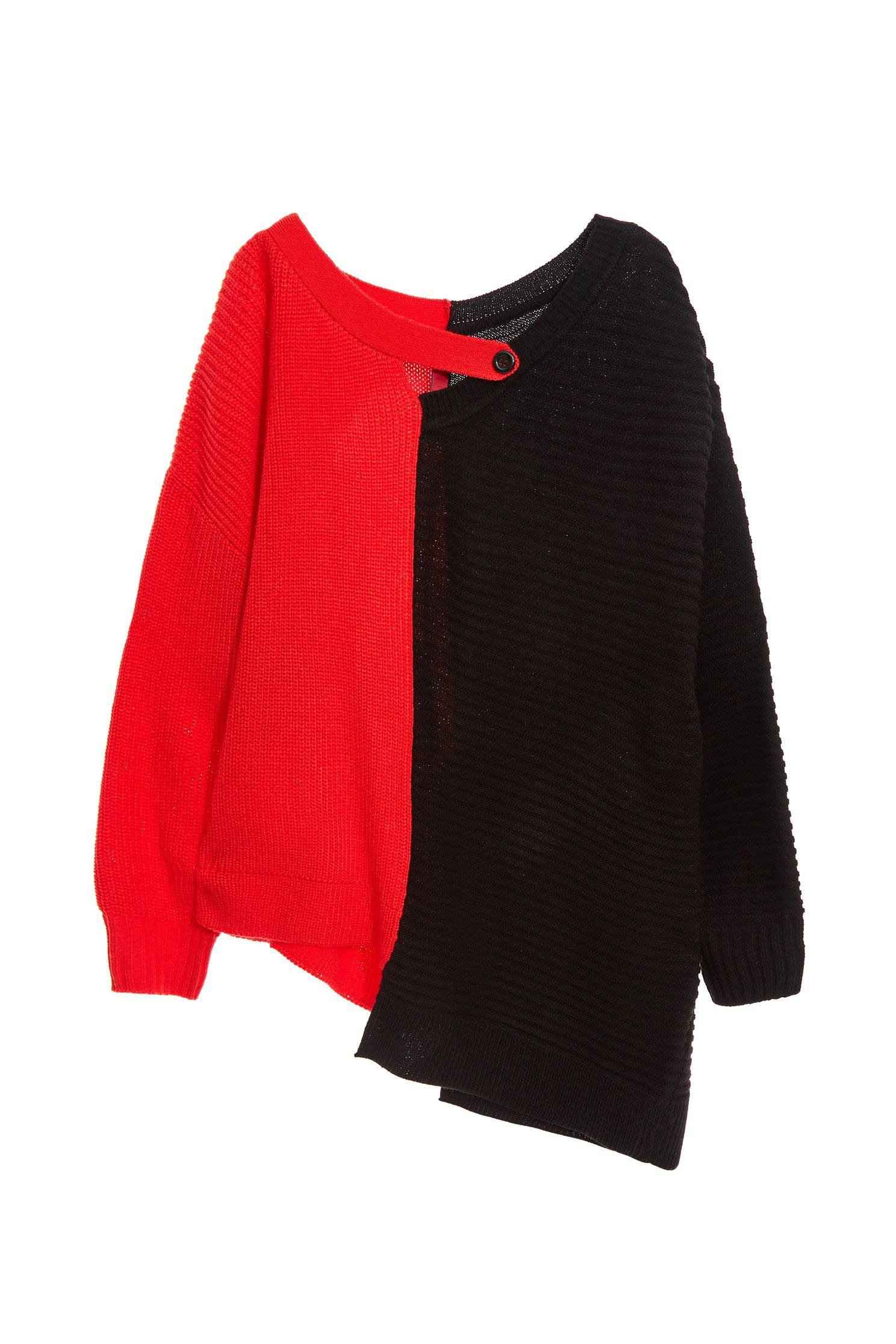 Color long-sleeved knitwear
