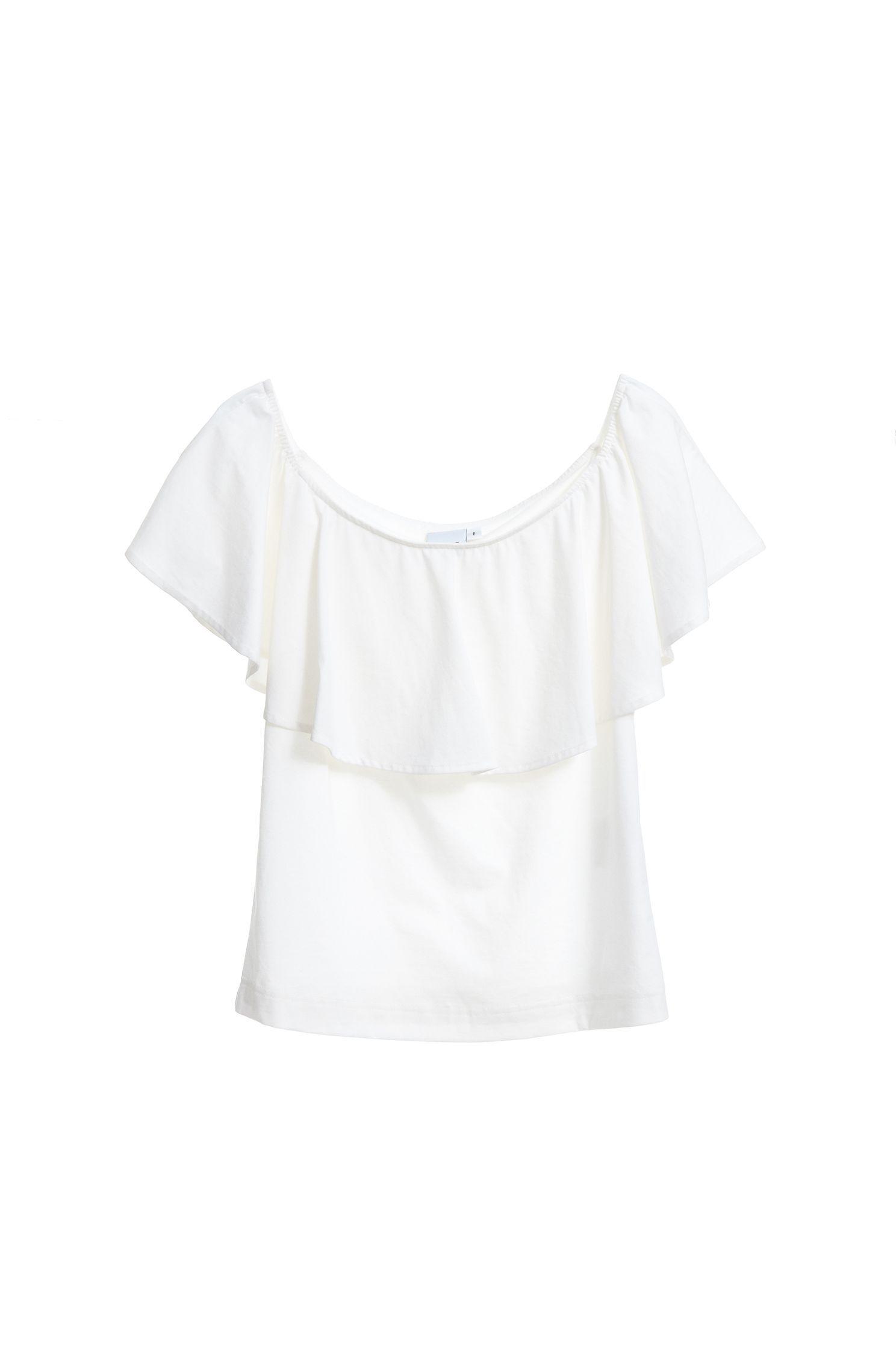 Wavy collar fashion top