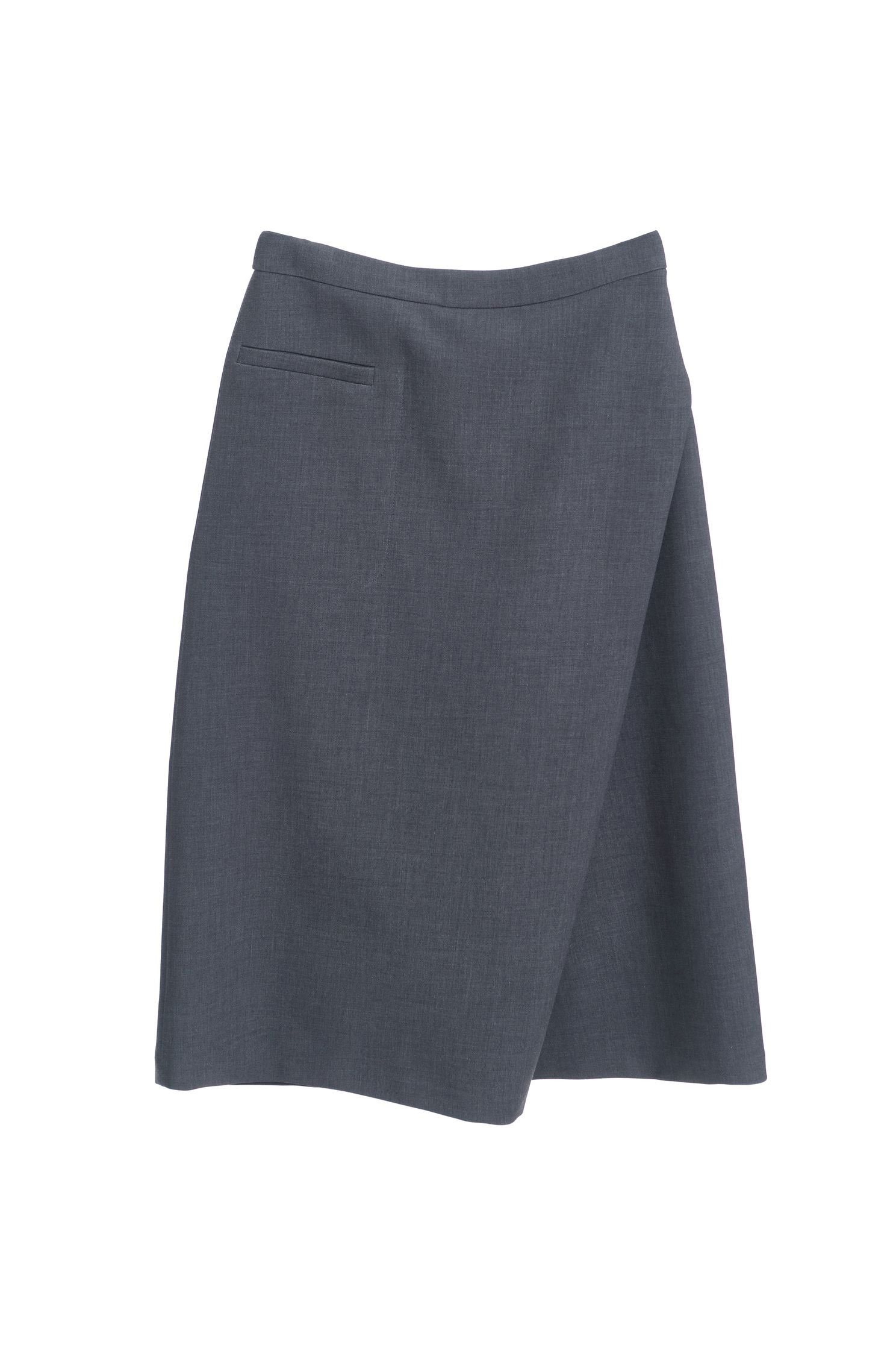 Asymmetric design trouser skirt