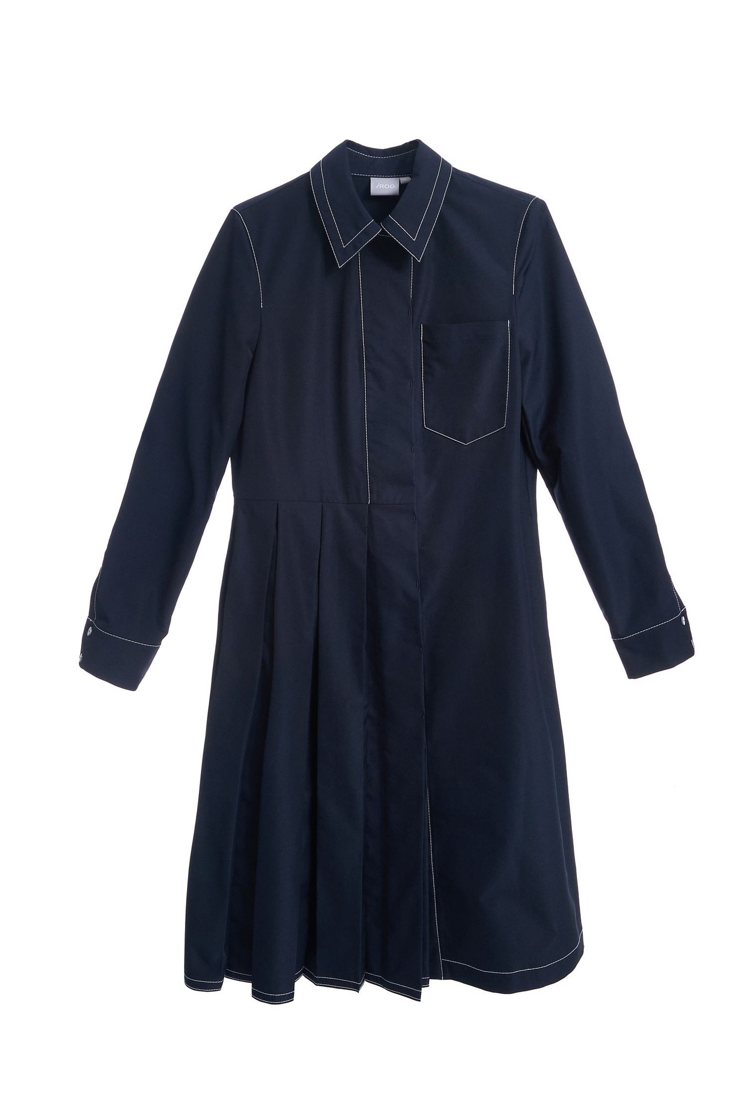 Asymmetrical design shirt long-sleeved dress