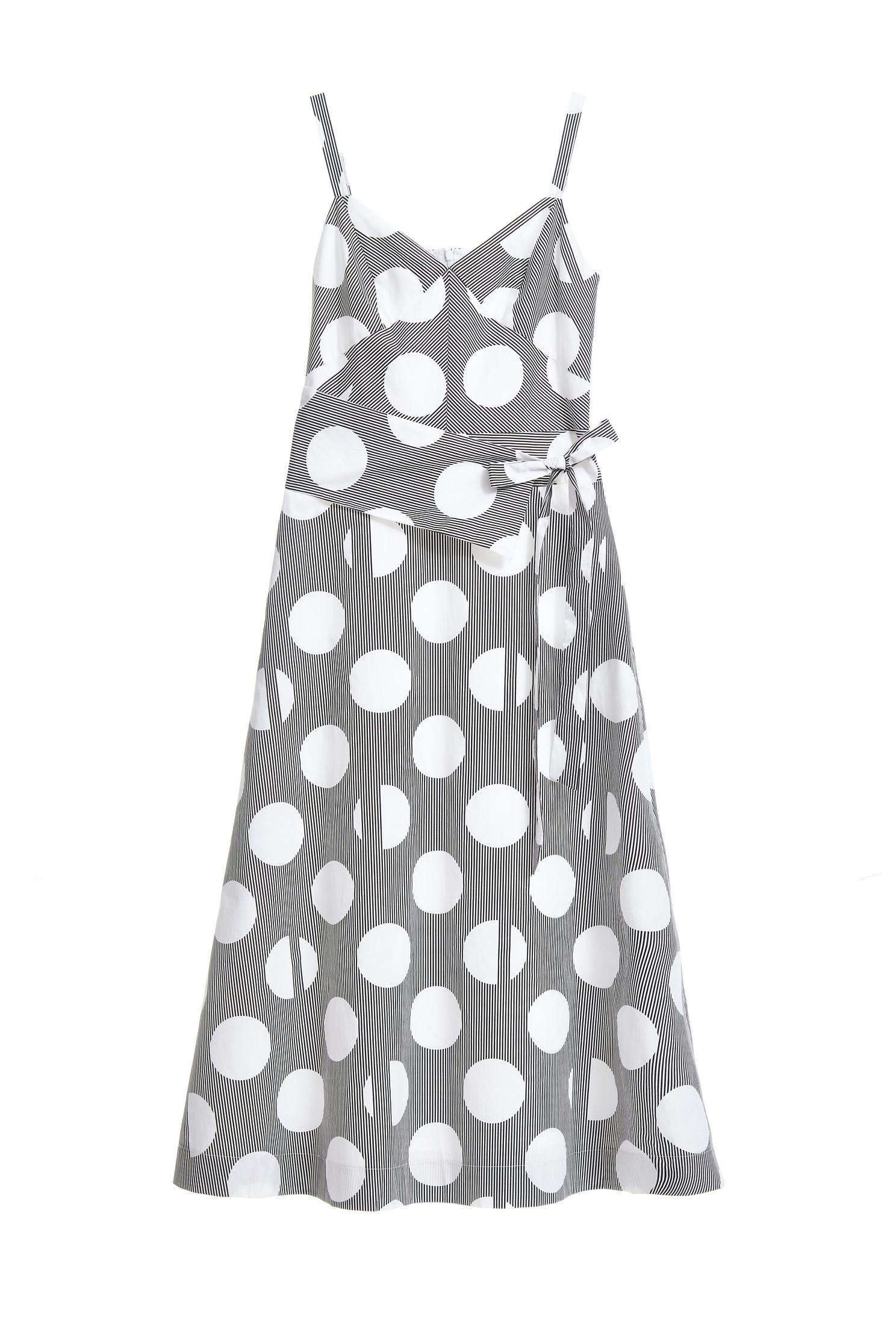 Polka dots slip dress