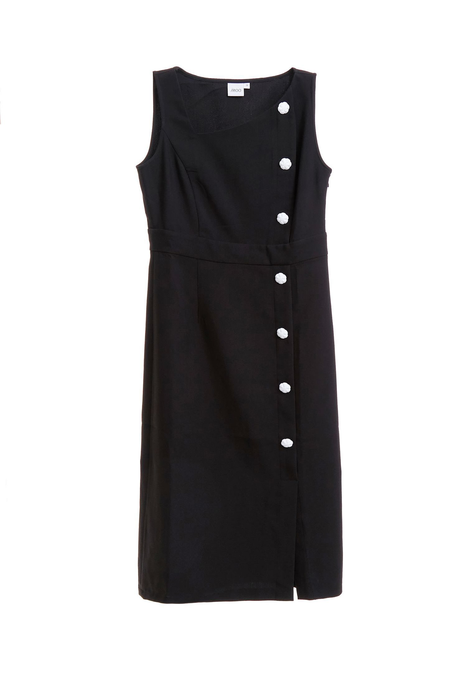 Buckle slim classic dress