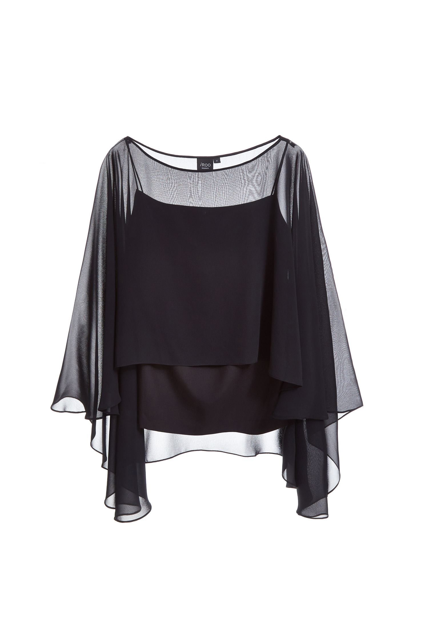 Temperament and elegant chiffon top