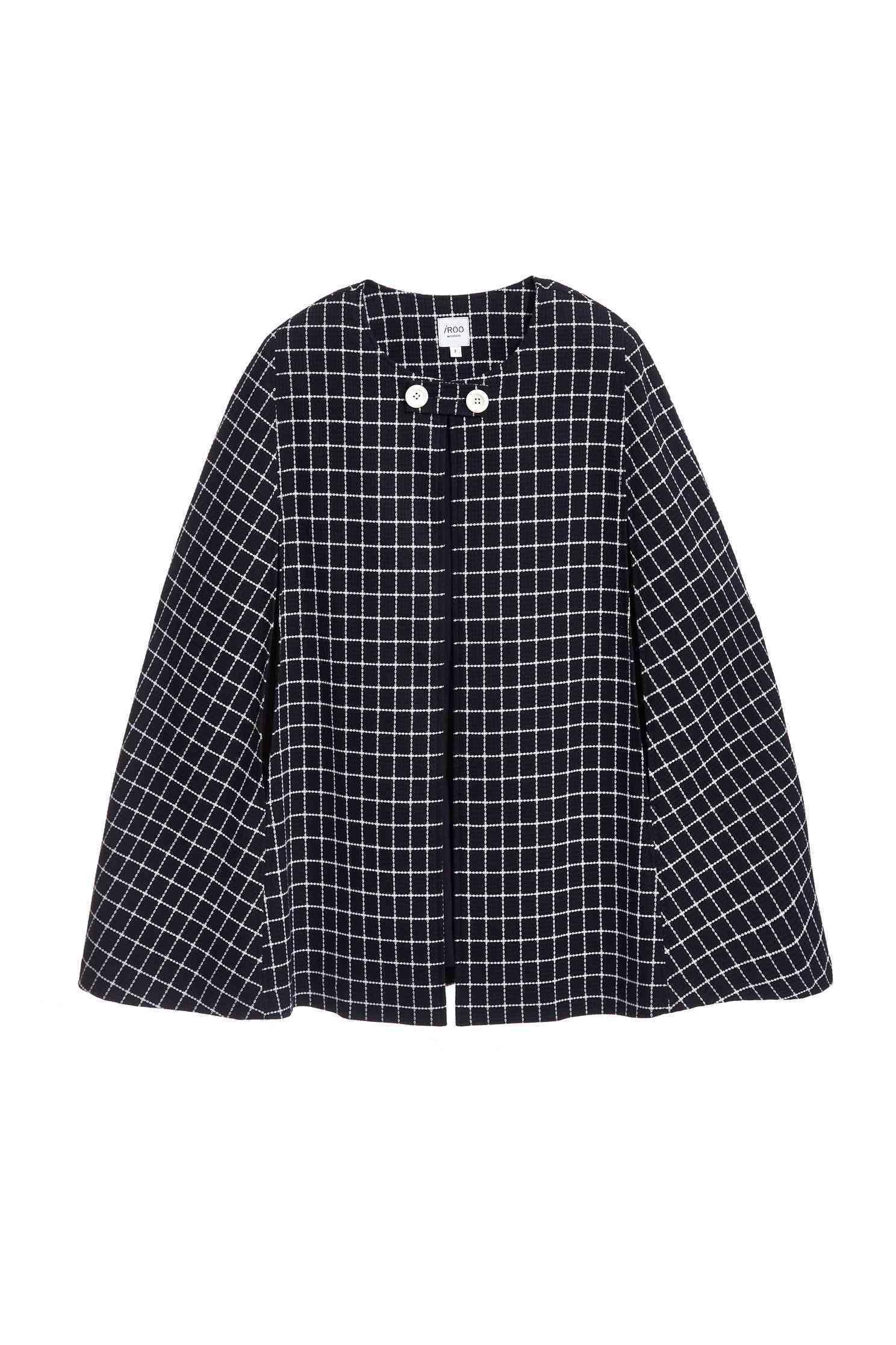 Navy blue england checkered long Sleeve blazer,outerwear,longsleeveouterwear