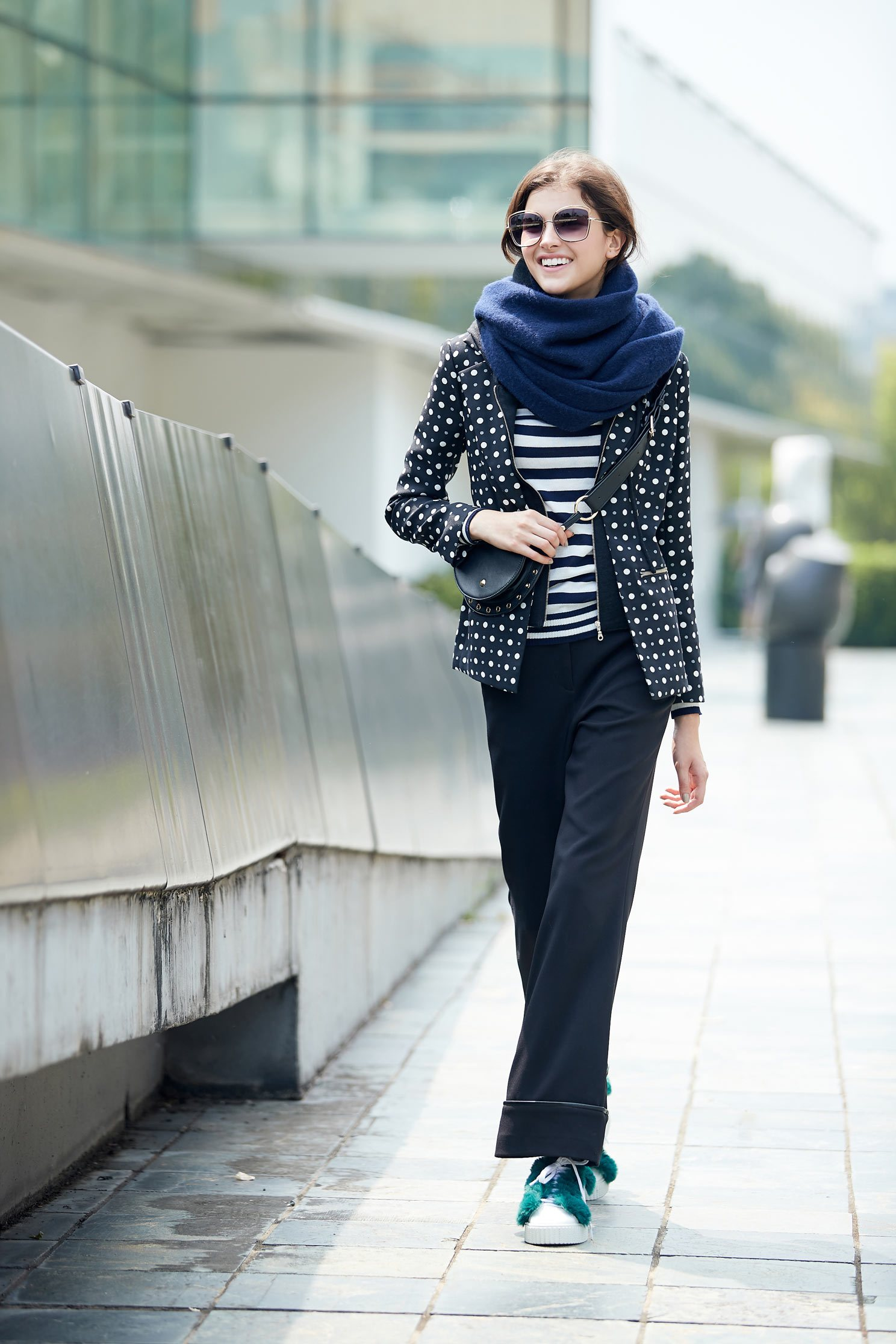 polka dots long sleeve jacket,outerwear,hoodiejacket,longsleeveouterwear